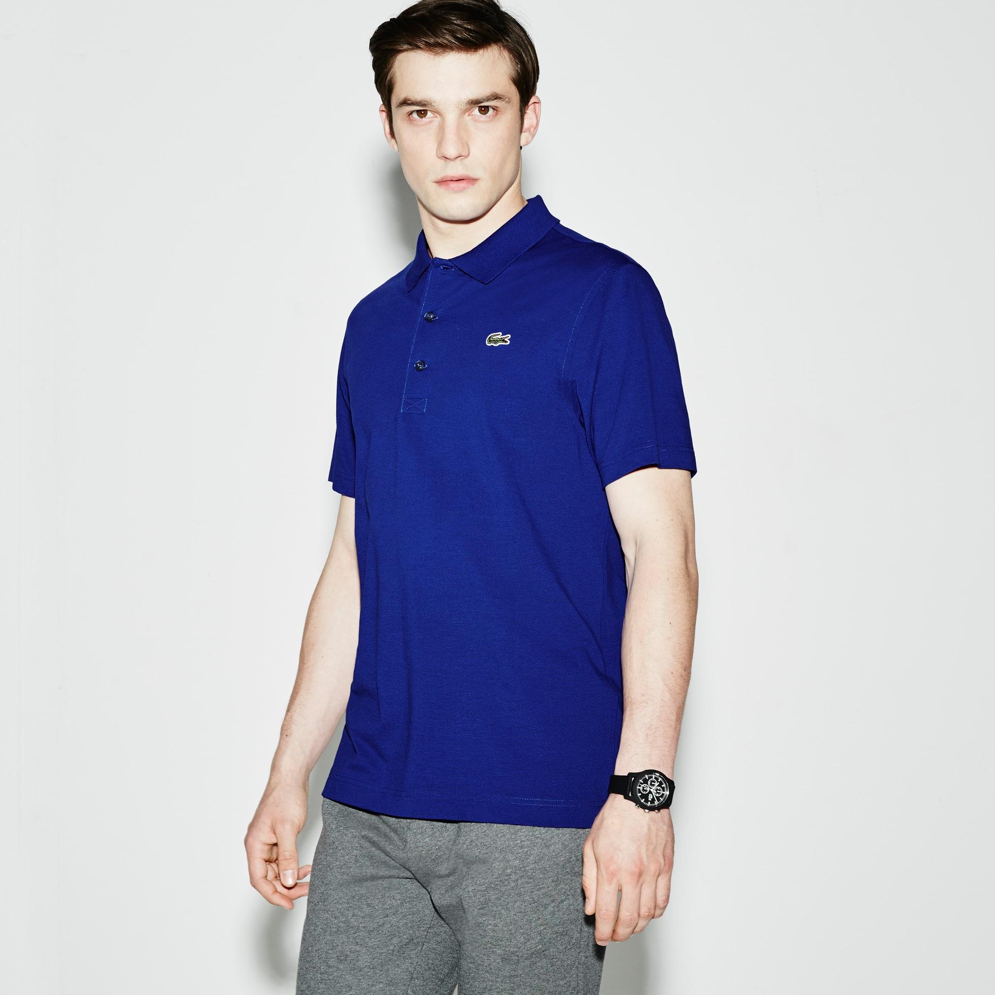 Polo Lacoste SPORT de tênis regular fit masculina em malha ultraleve