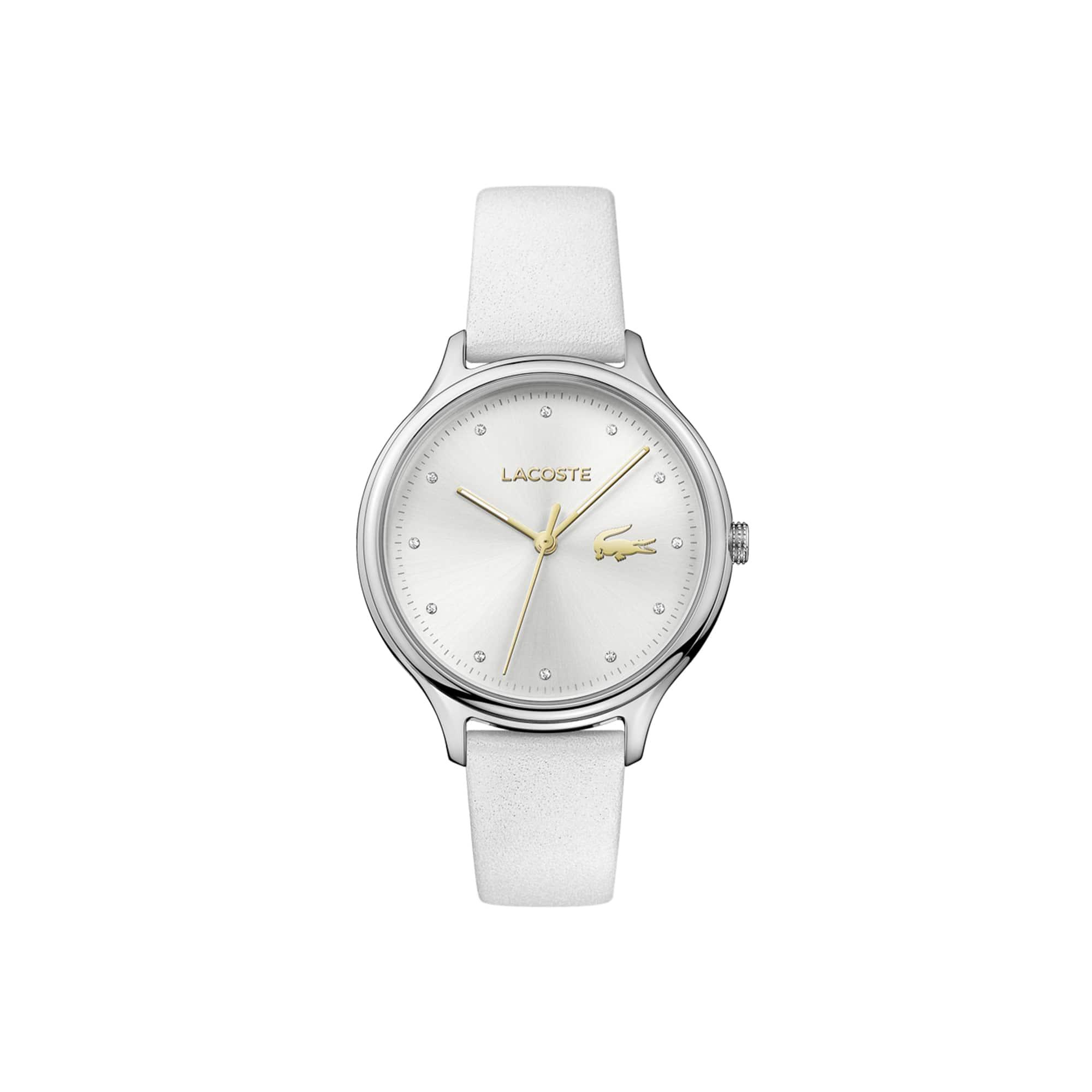 Relógio Constance Senhora com Bracelete em Couro Branco
