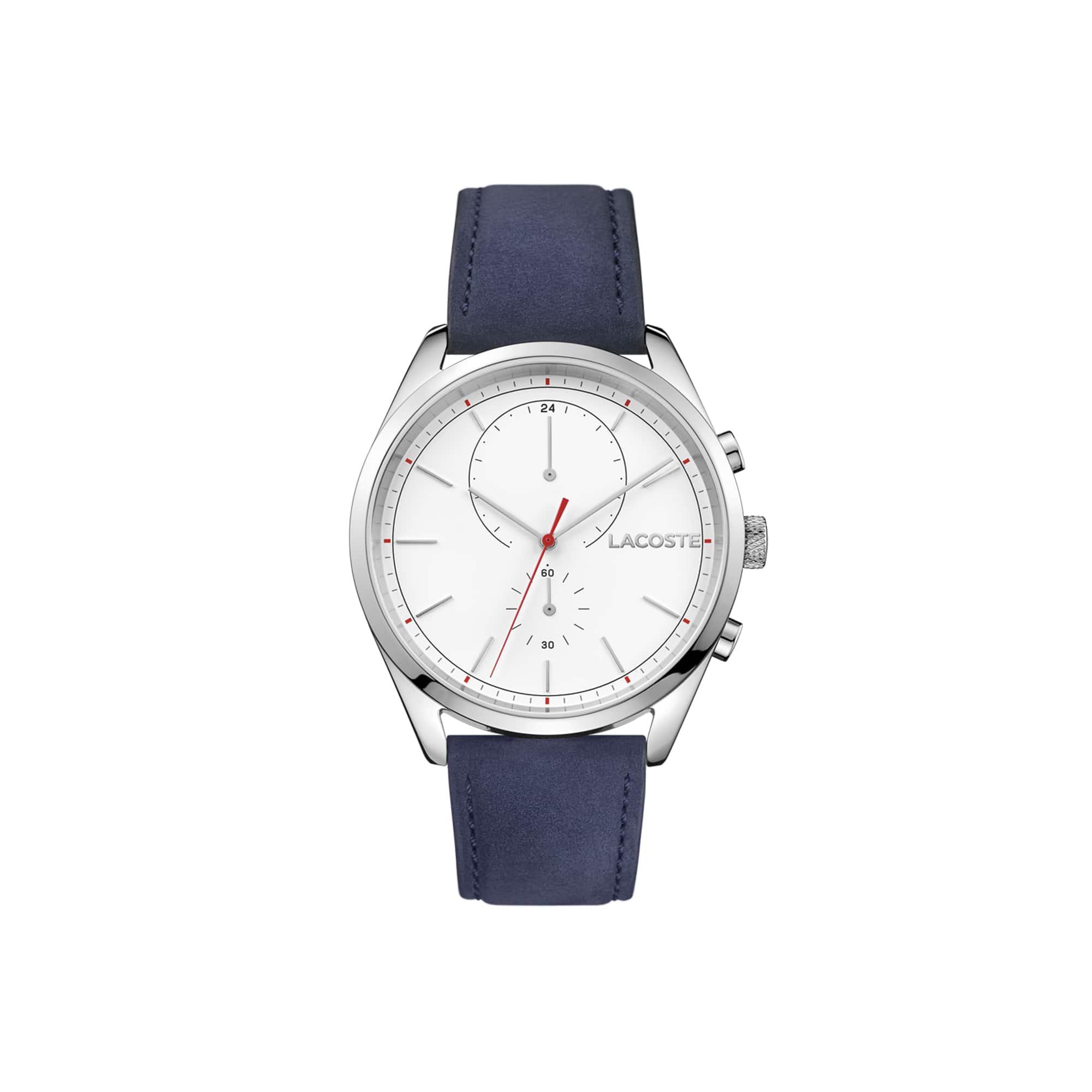 Relógio San Diego Homem com Bracelete em Couro Azul