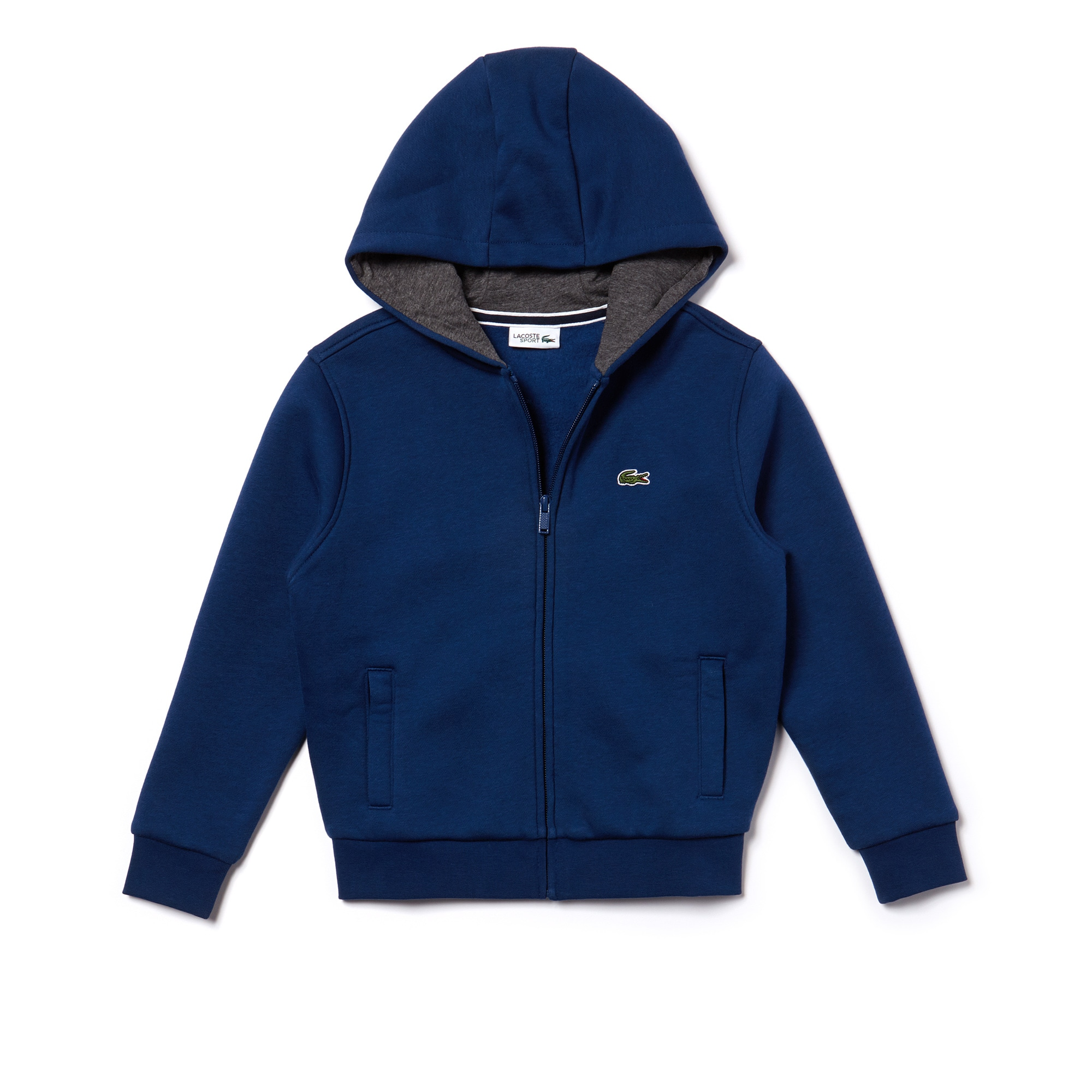 Sweatshirt com fecho de correr Criança Tennis Lacoste SPORT em moletão unicolor