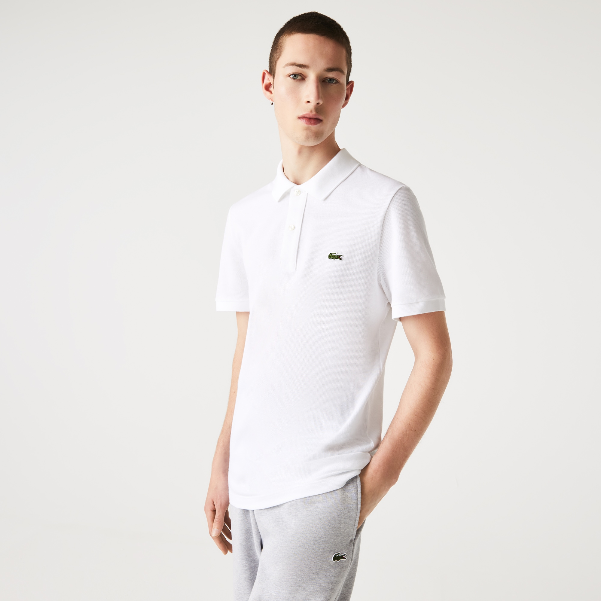 Camisa Polo Lacoste Slim Fit Masculina em Petit Piqué