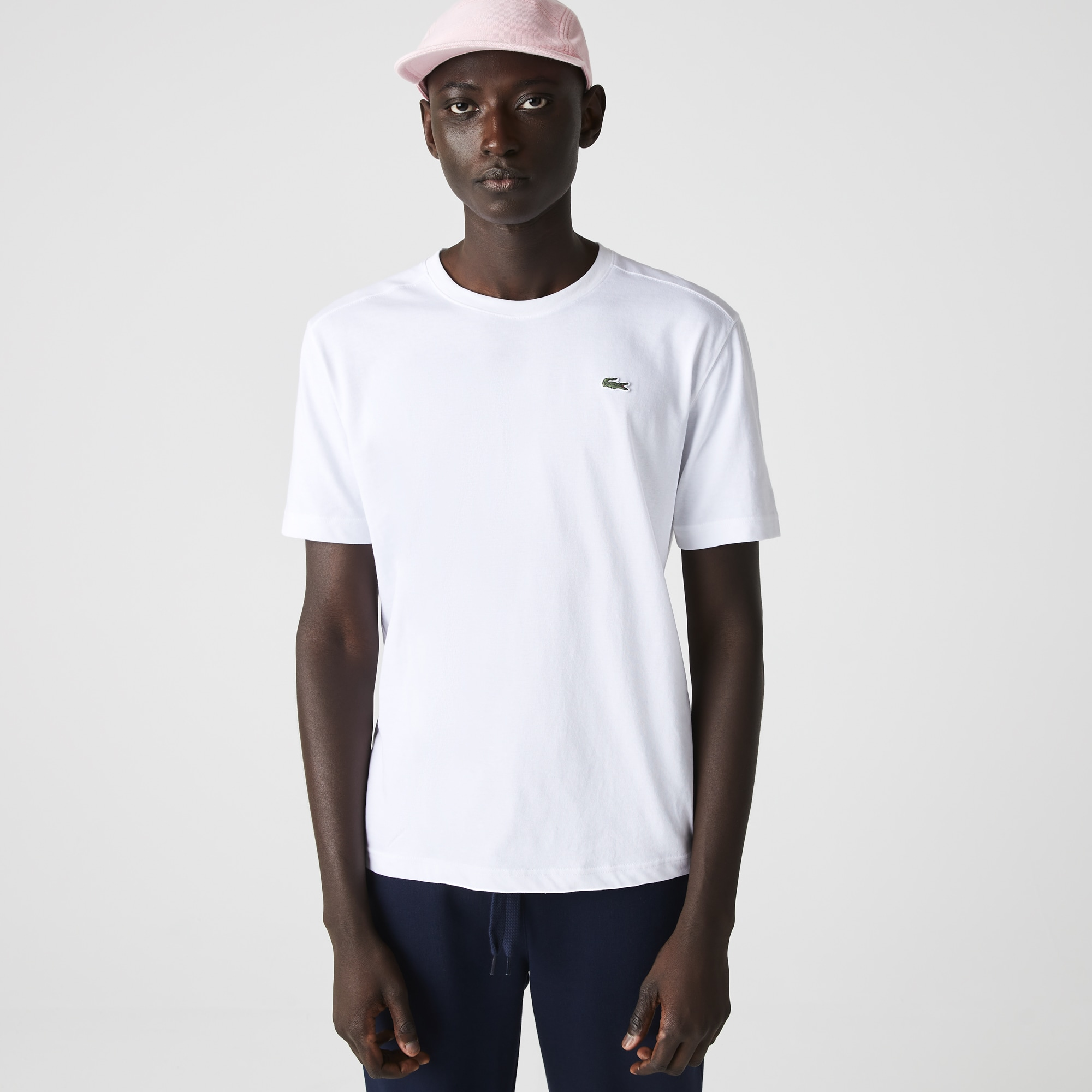 Camiseta gola careca Lacoste SPORT de jersey tecnológico liso