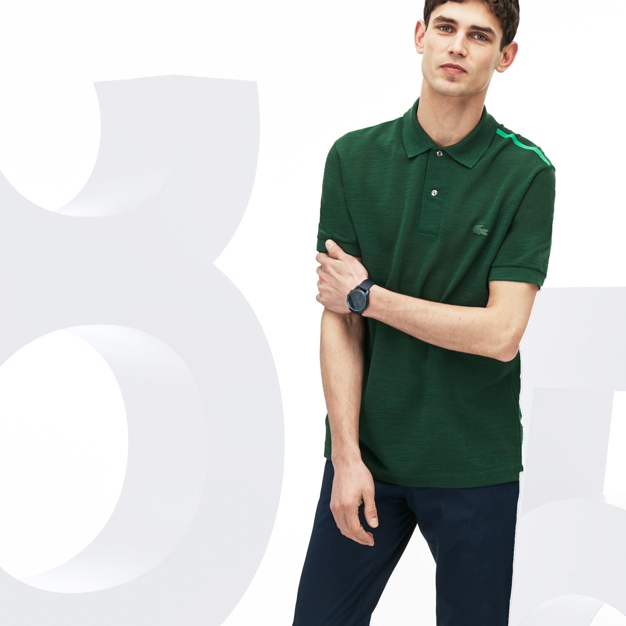 0731467ff3ed9 Camisa Polo Lacoste L.12.12 Masculina Edição Limitada de Aniversário de 85  Anos ...