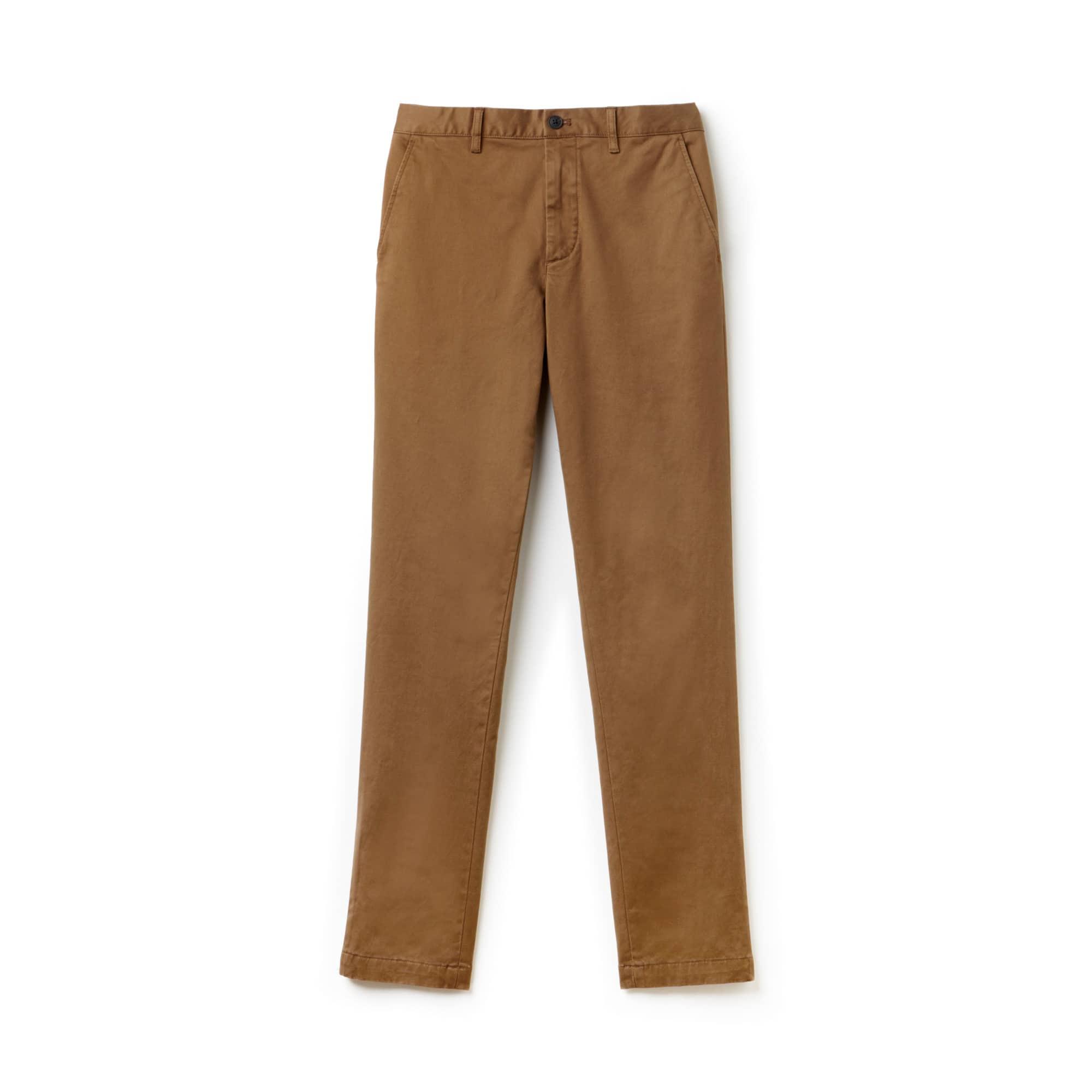 Calça Chino Slim Fit Masculina em Gabardina Stretch