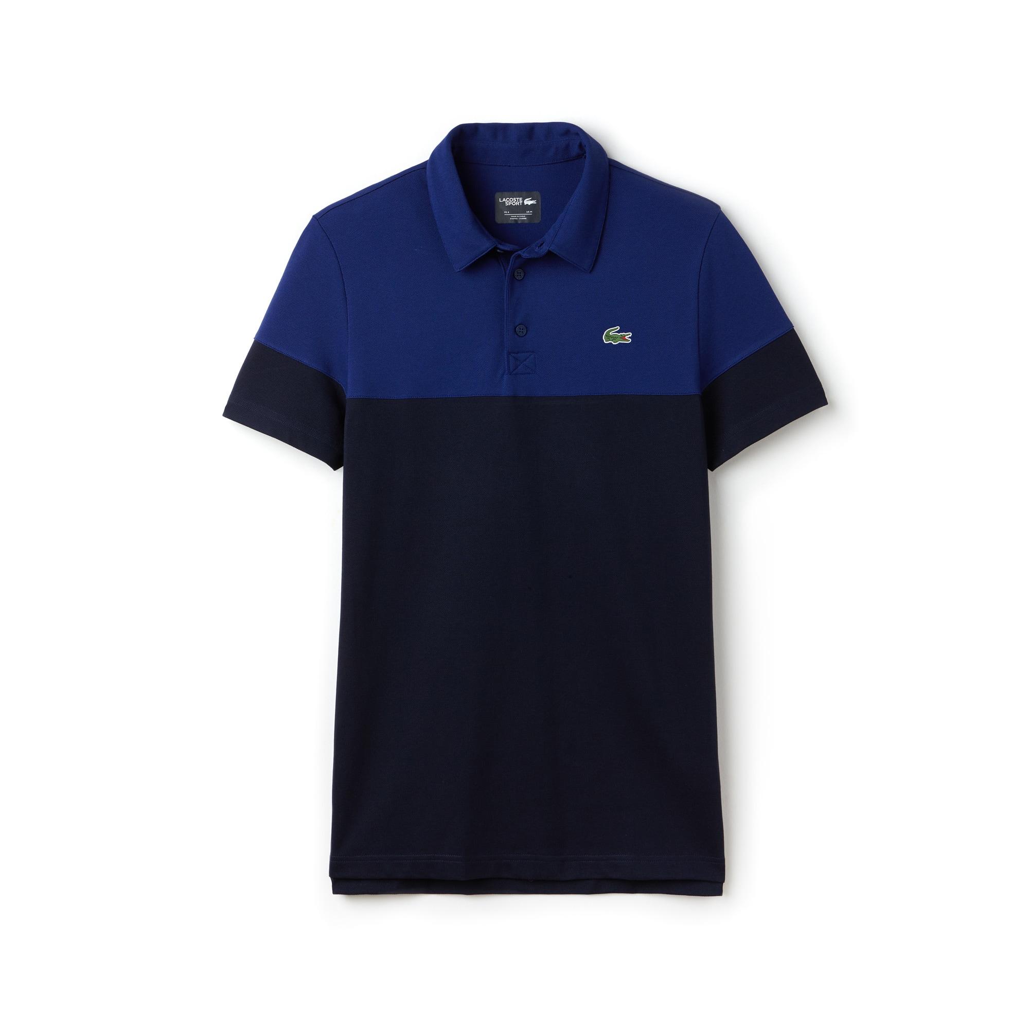 Polo Lacoste SPORT Golf Masculina em Piqué Técnico com Color Block