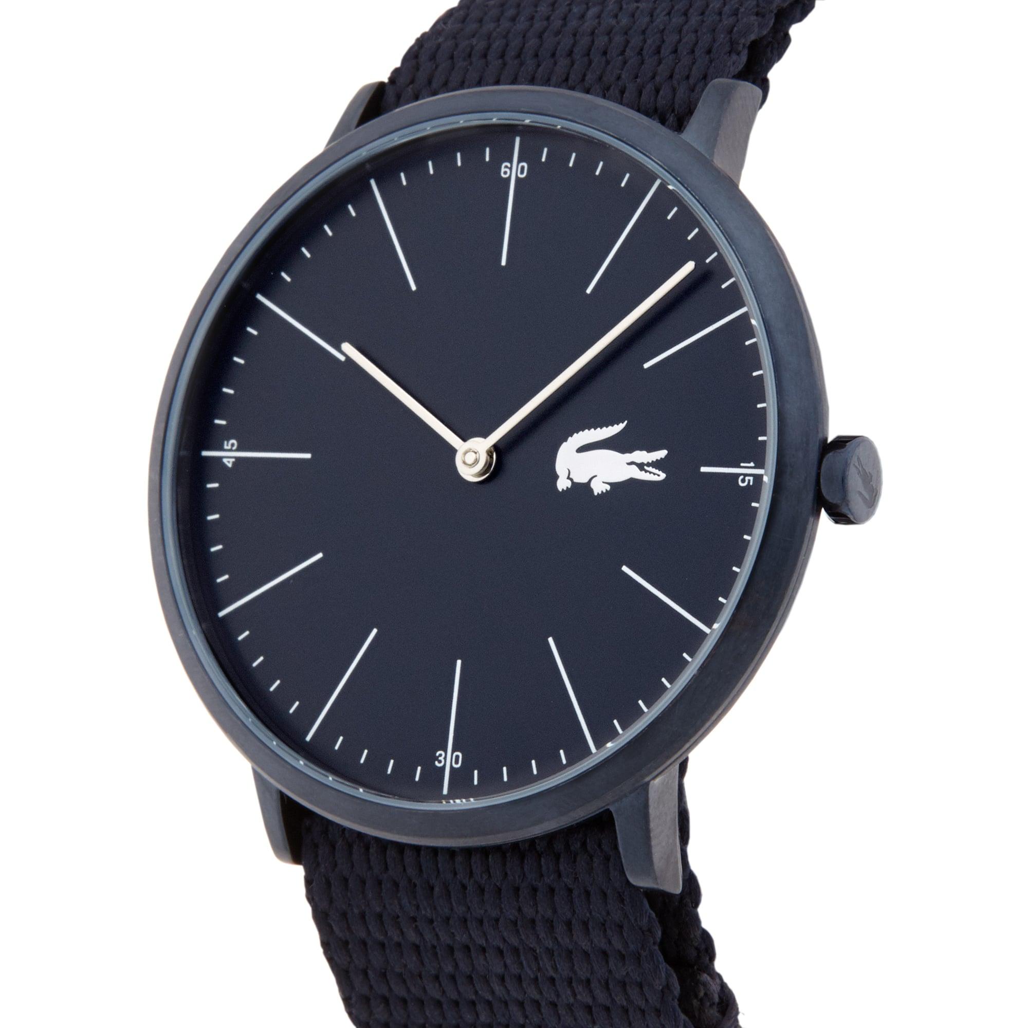 Relógio ultra slim Moon de homem com bracelete em tecido preto