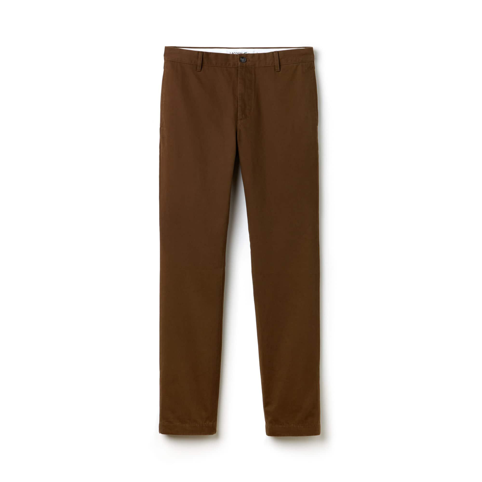 Calça Chino Regular Fit Masculina em Gabardina de Algodão