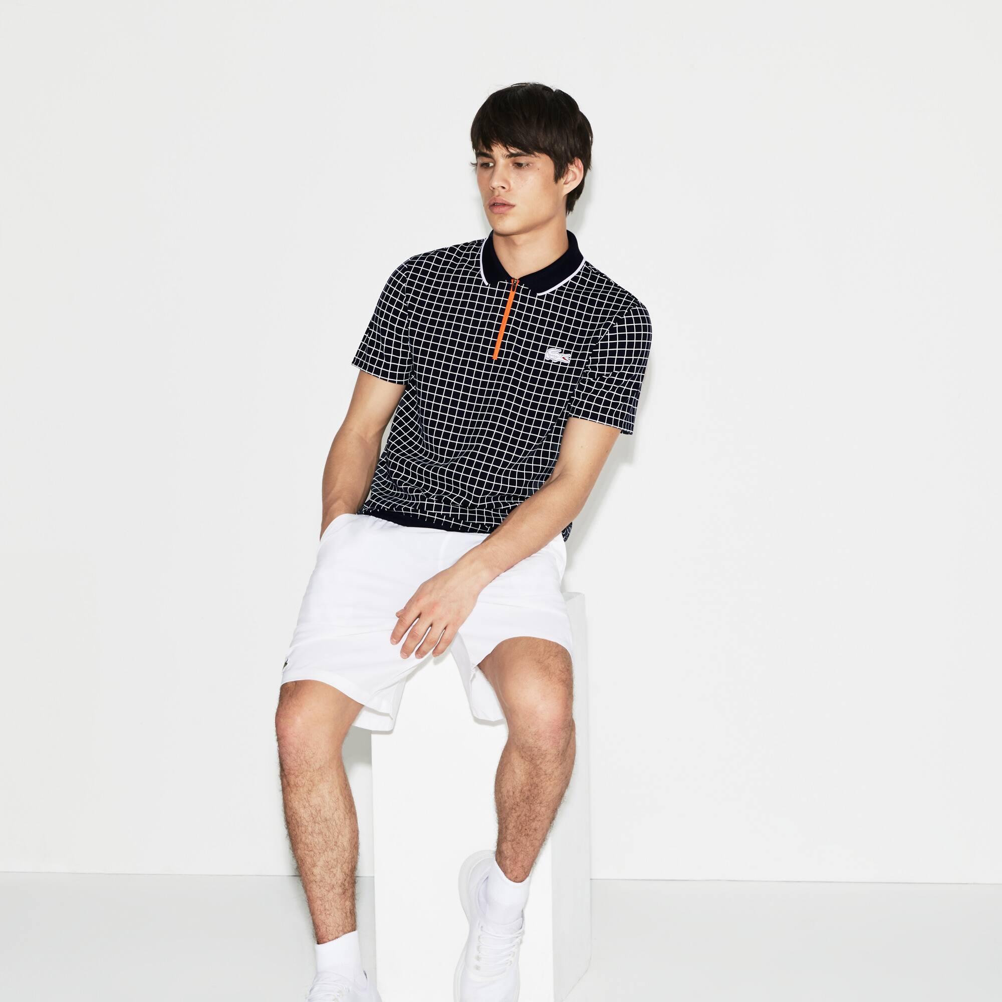 Camisa Polo Lacoste Sport Masculina Edição Roland Garros em Piqué Técnico Estampado