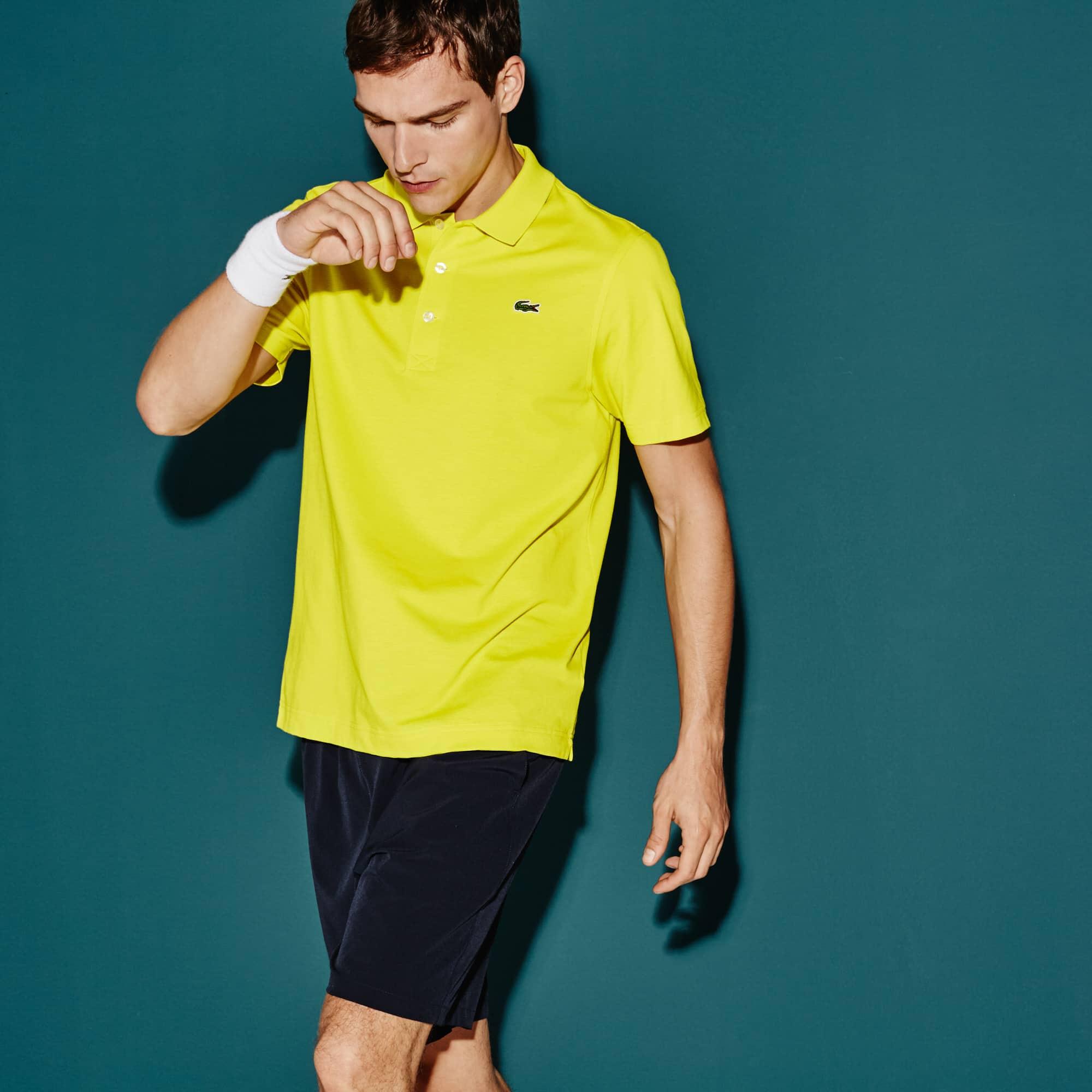 Polo Lacoste SPORT Tennis Regular Fit Masculina em Malha Superleve