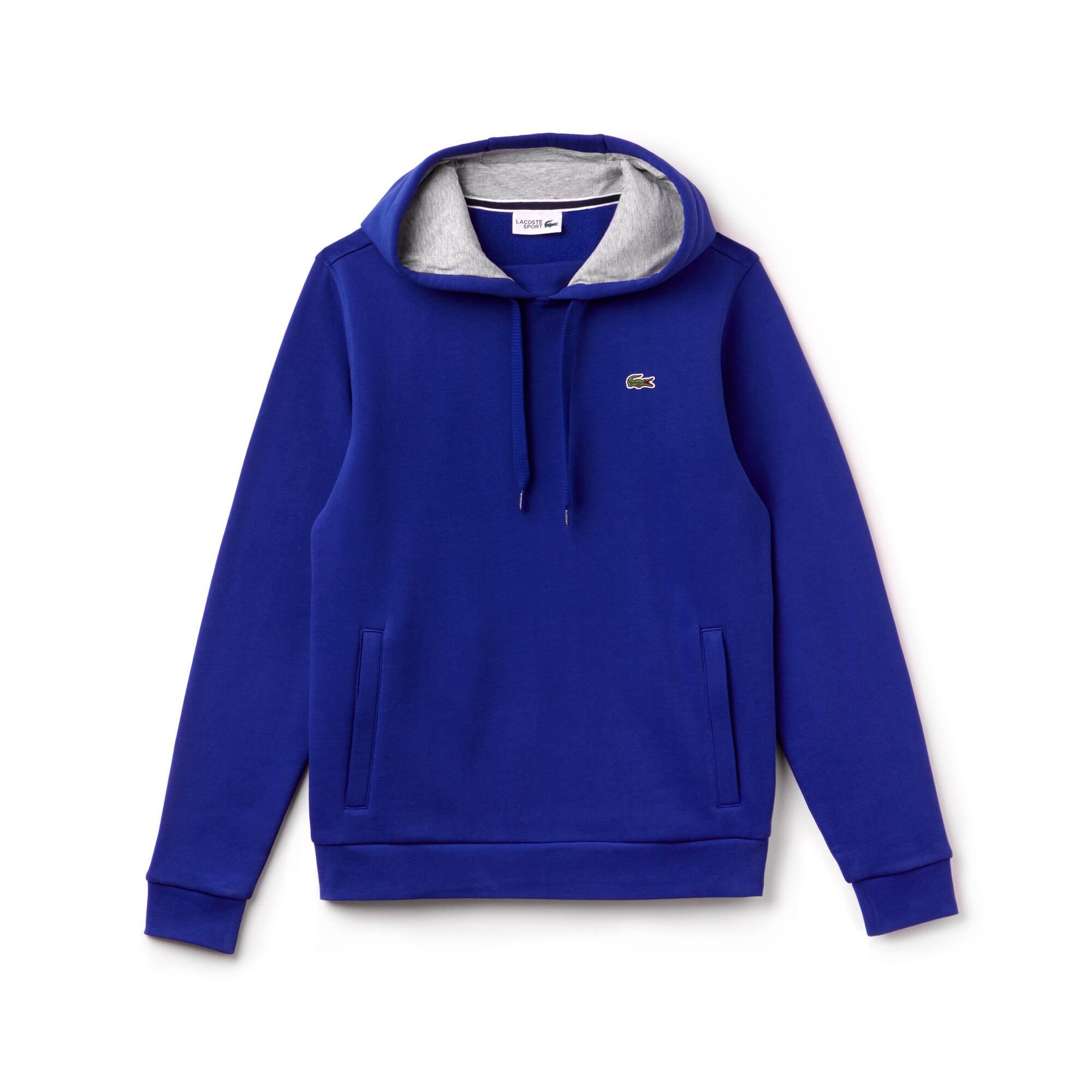 Sweatshirt em moletão com capuz Tennis Lacoste SPORT