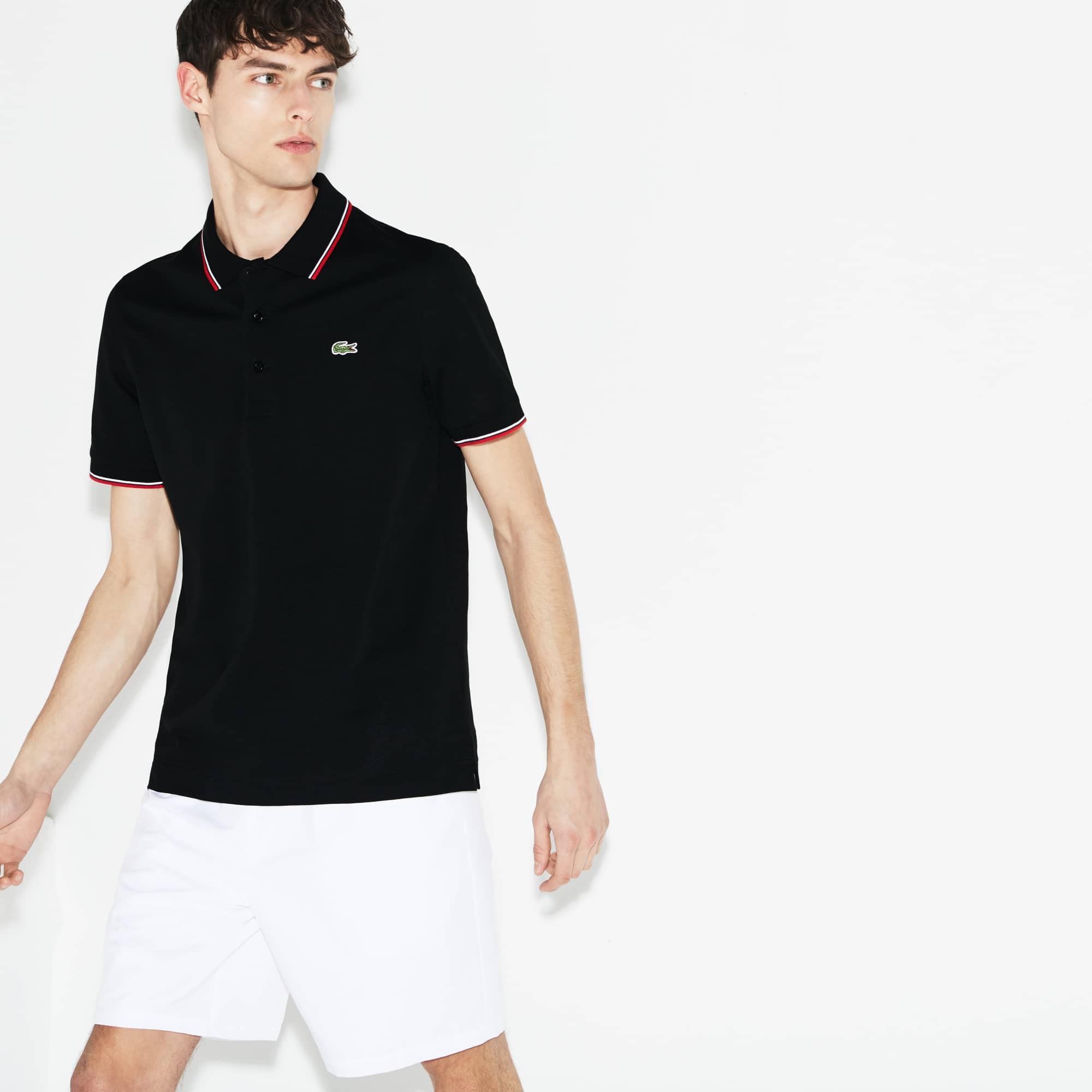 Camisa Polo Lacoste SPORT Masculina em Malha Ultraleve com Acabamento em Vivo