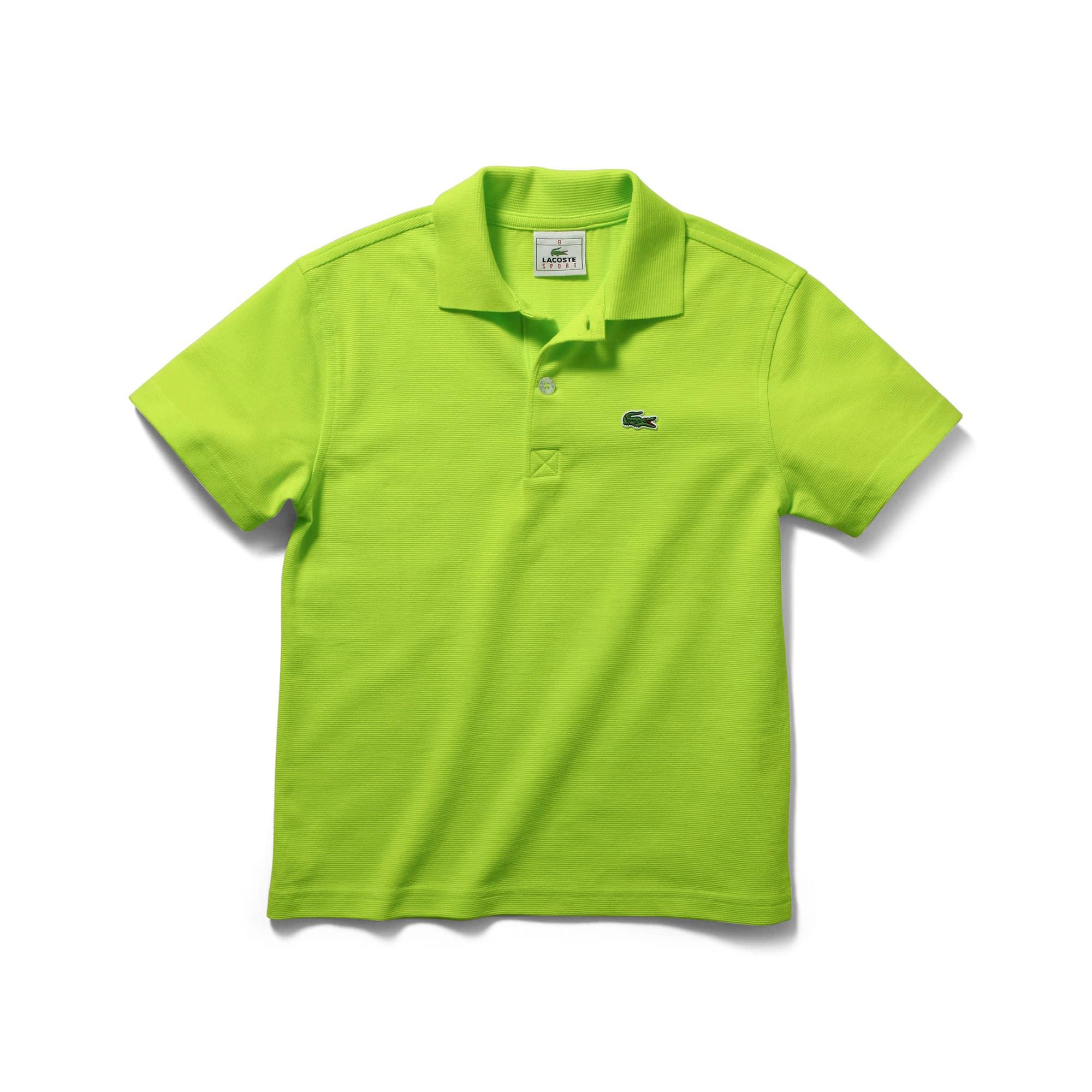 Polo Menino Tennis Lacoste SPORT em algodão superleve unicolor