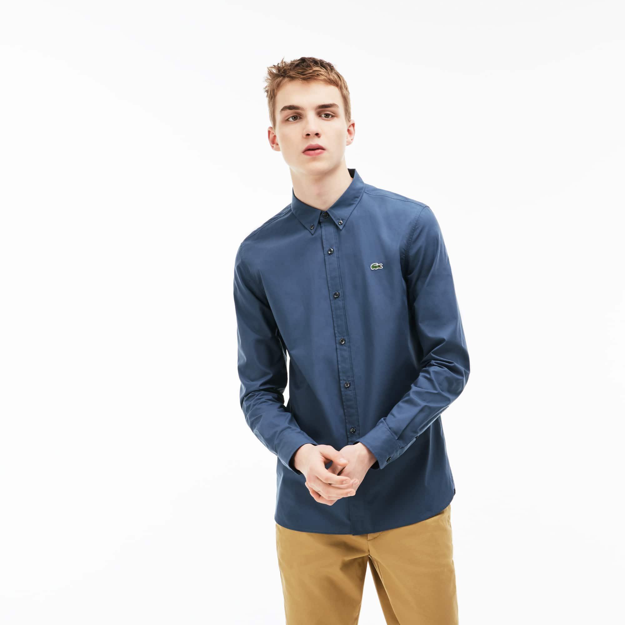 Camisa Lacoste LIVE Skinny Fit Masculina em Popeline de Algodão