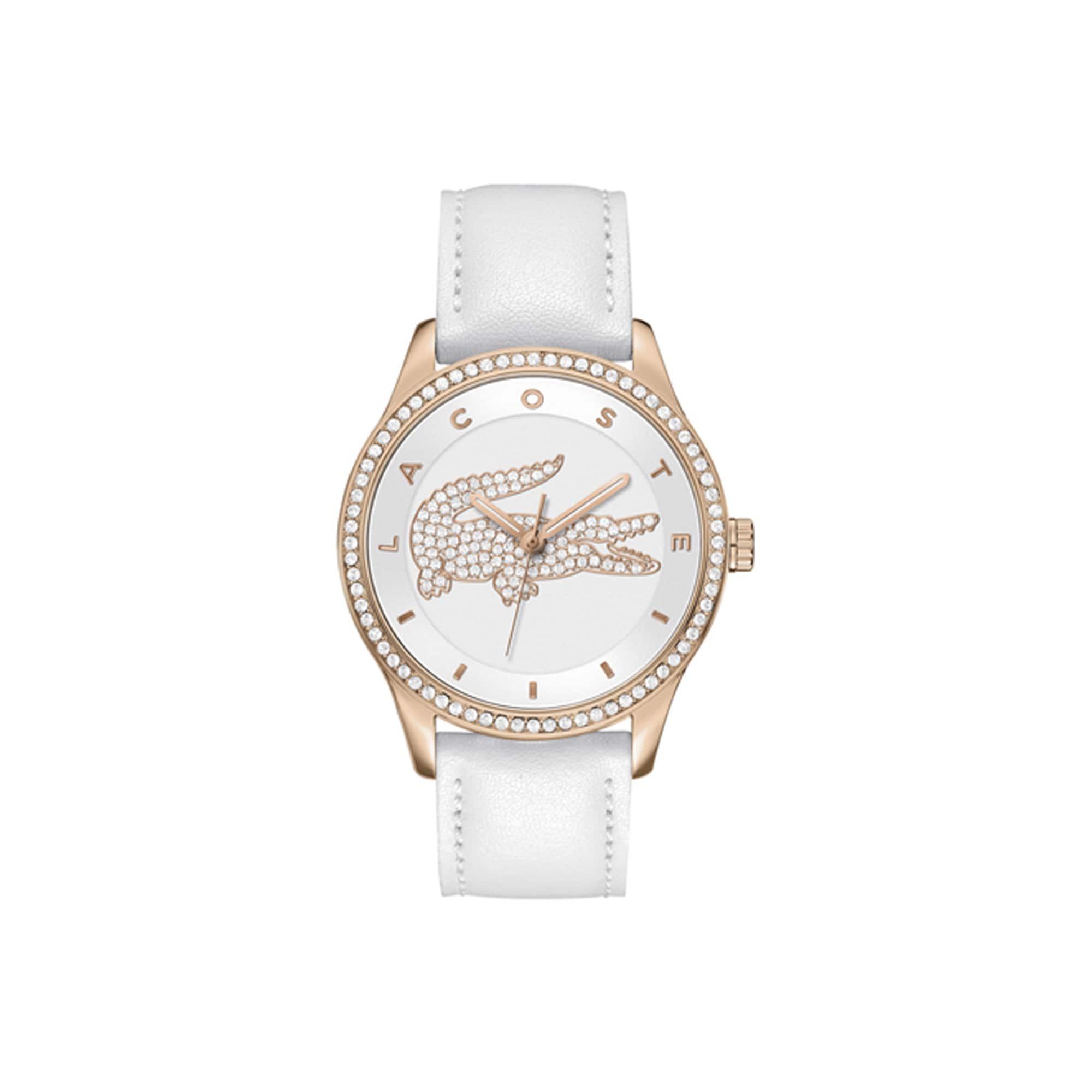 Relógio Victoria com crocodilo de cristal