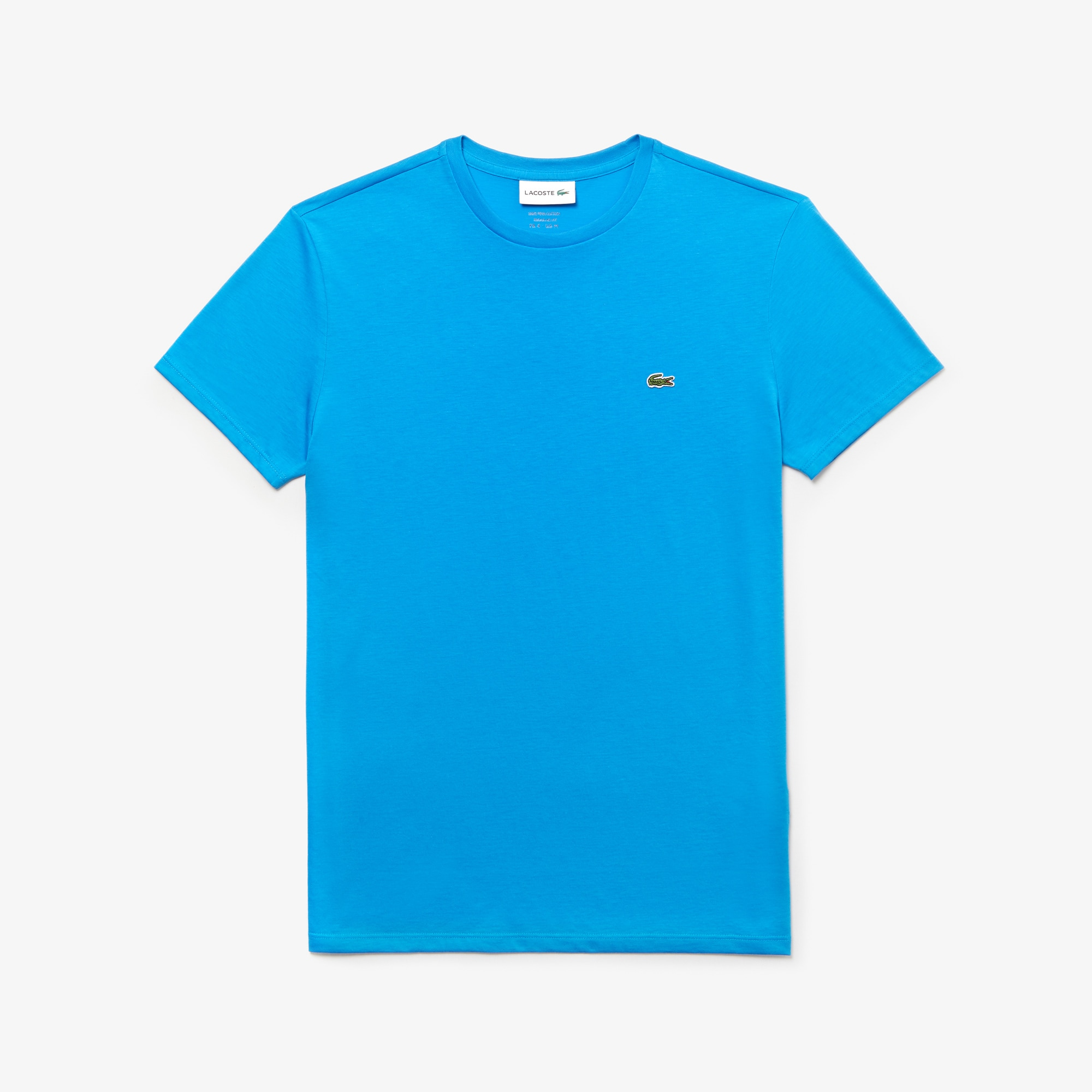 Camiseta Masculina em Jérsei de Algodão Pima com Gola Redonda