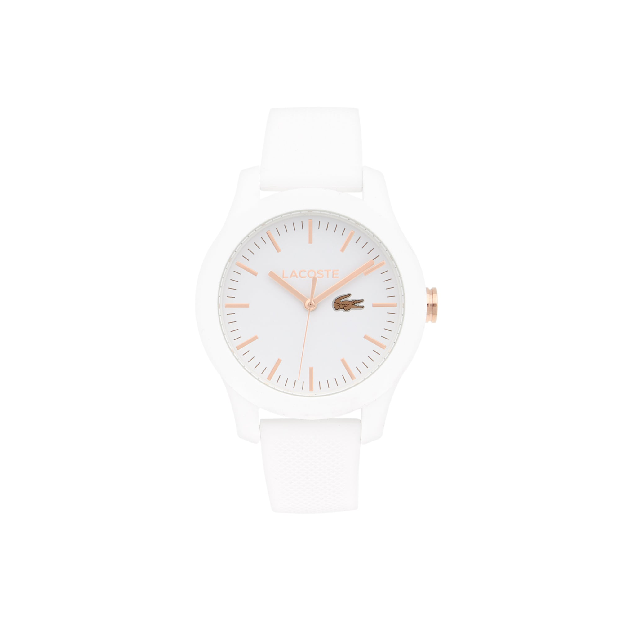 Relógio Lacoste 12.12 de mulher com bracelete de silicone branca