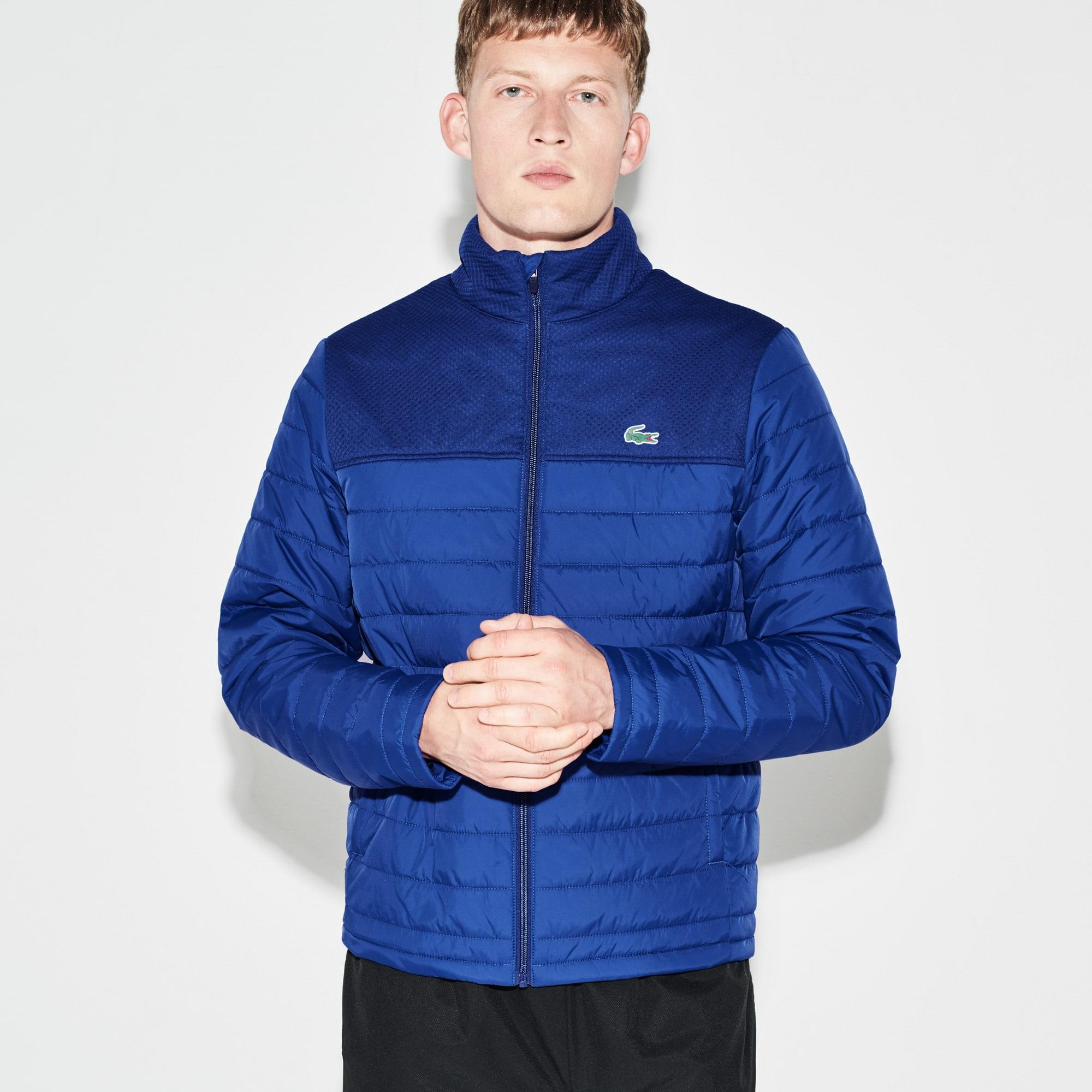 Blusão acolchoado com fecho de correr Tennis Lacoste SPORT com encaixe em mesh