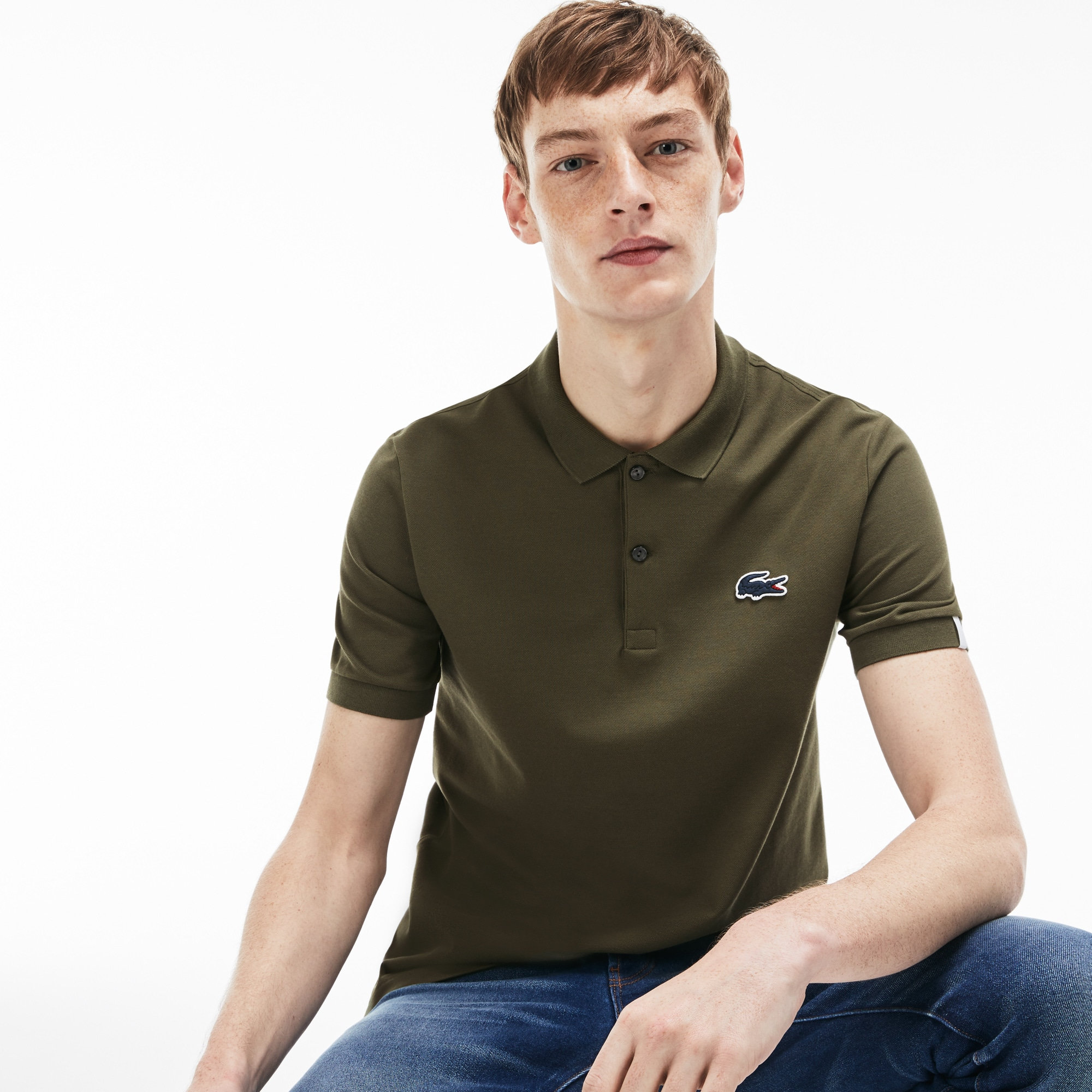 9becc8c6bb9be Camisa Polo Lacoste LIVE Slim Fit Masculina em Minipiqué Stretch ...
