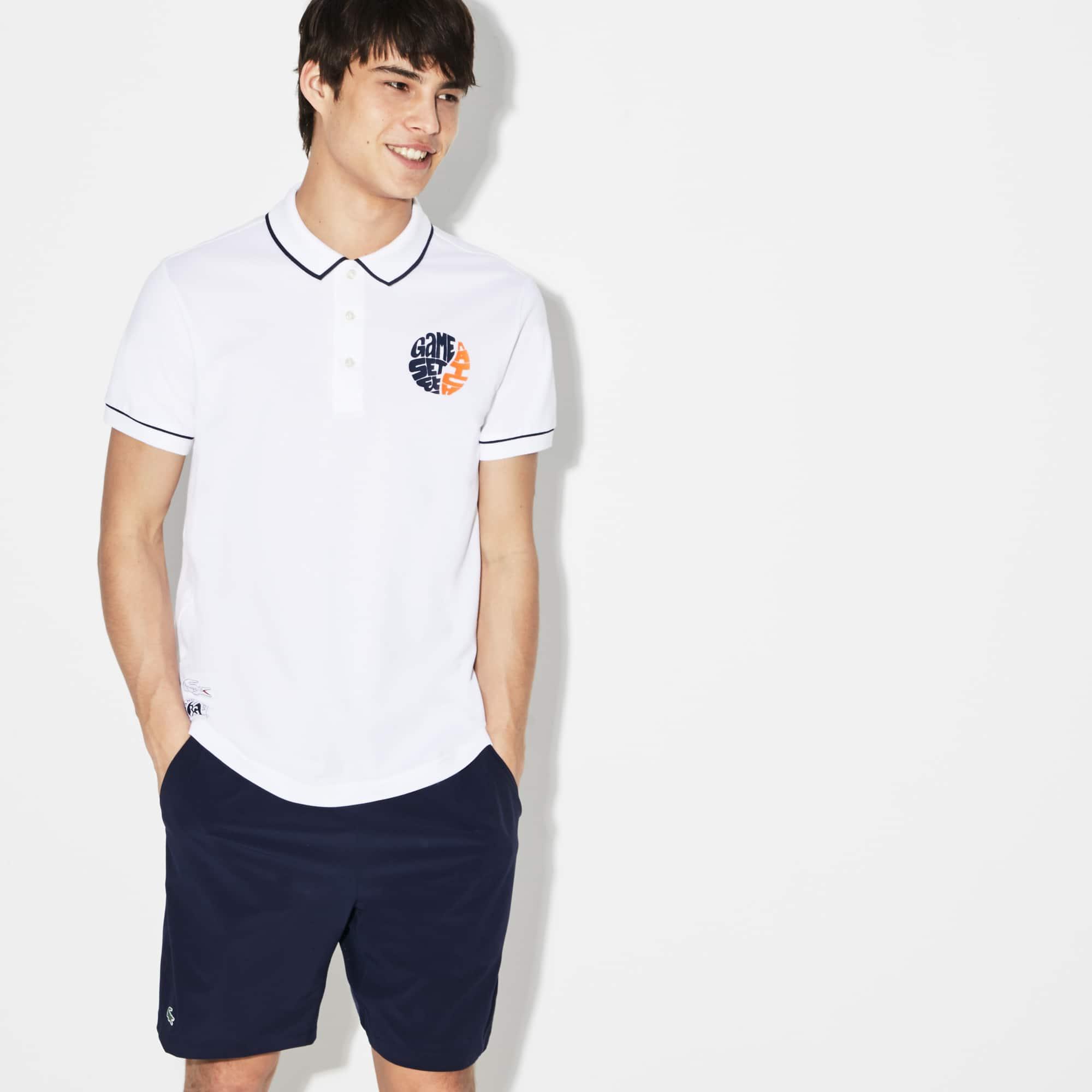 620a9e66dabae 10% de desconto. Camisa Polo Lacoste SPORT Masculina Edição Roland Garros  em Minipiqué Stretch