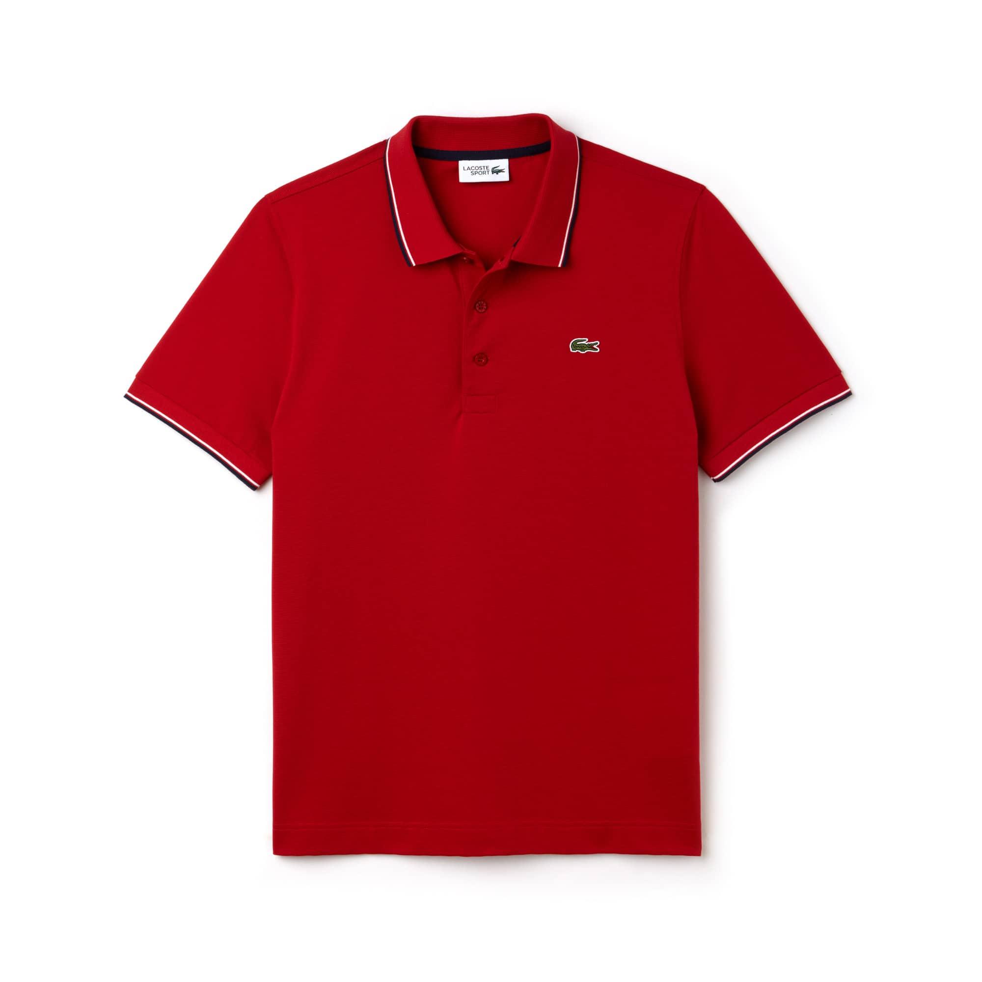 f0d16356ab Camisa Polo Lacoste SPORT Masculina em Malha Ultraleve com Acabamento em  Vivo