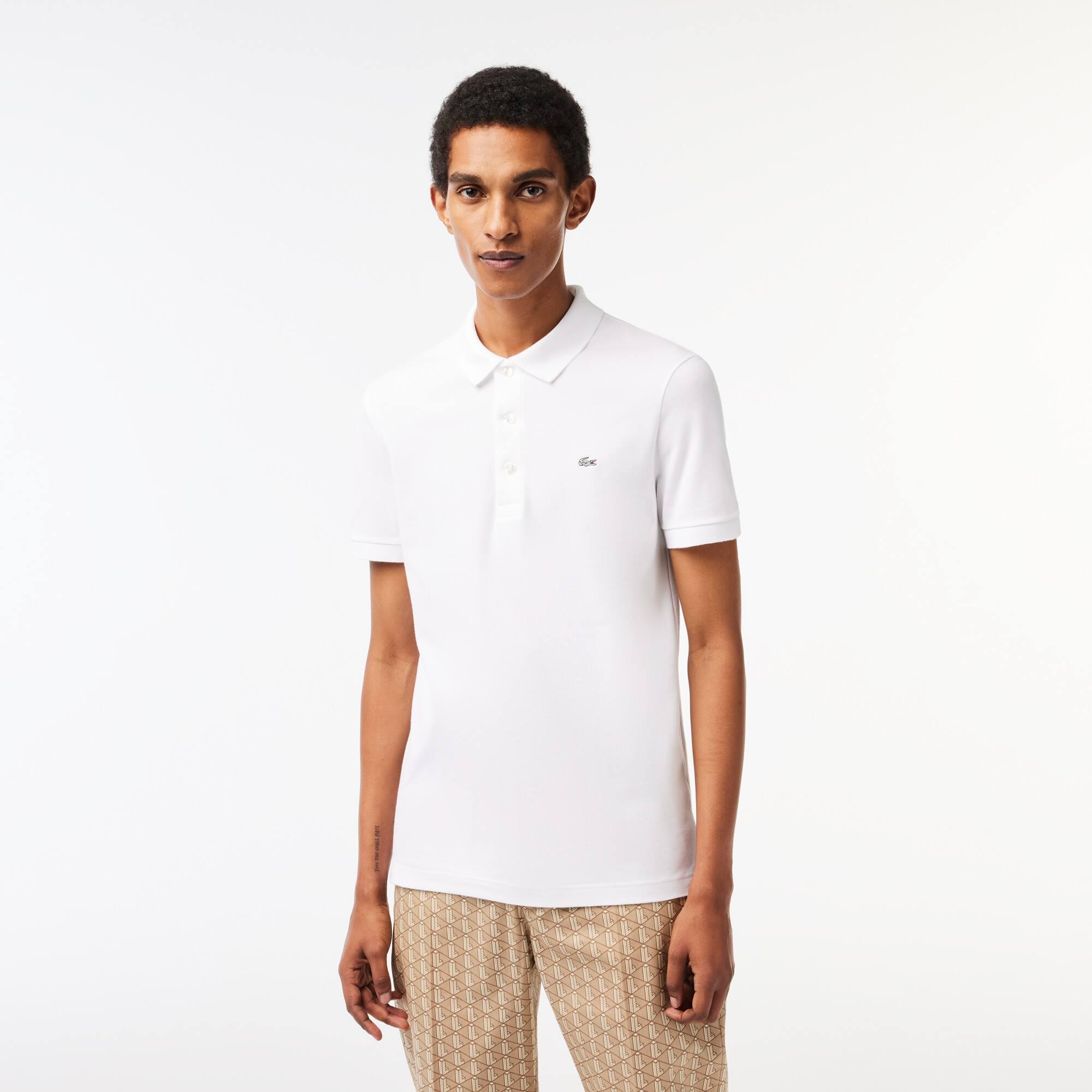 24adab34cdb Camisa Polo Lacoste Slim Fit Masculina em Petit piquet Stretch