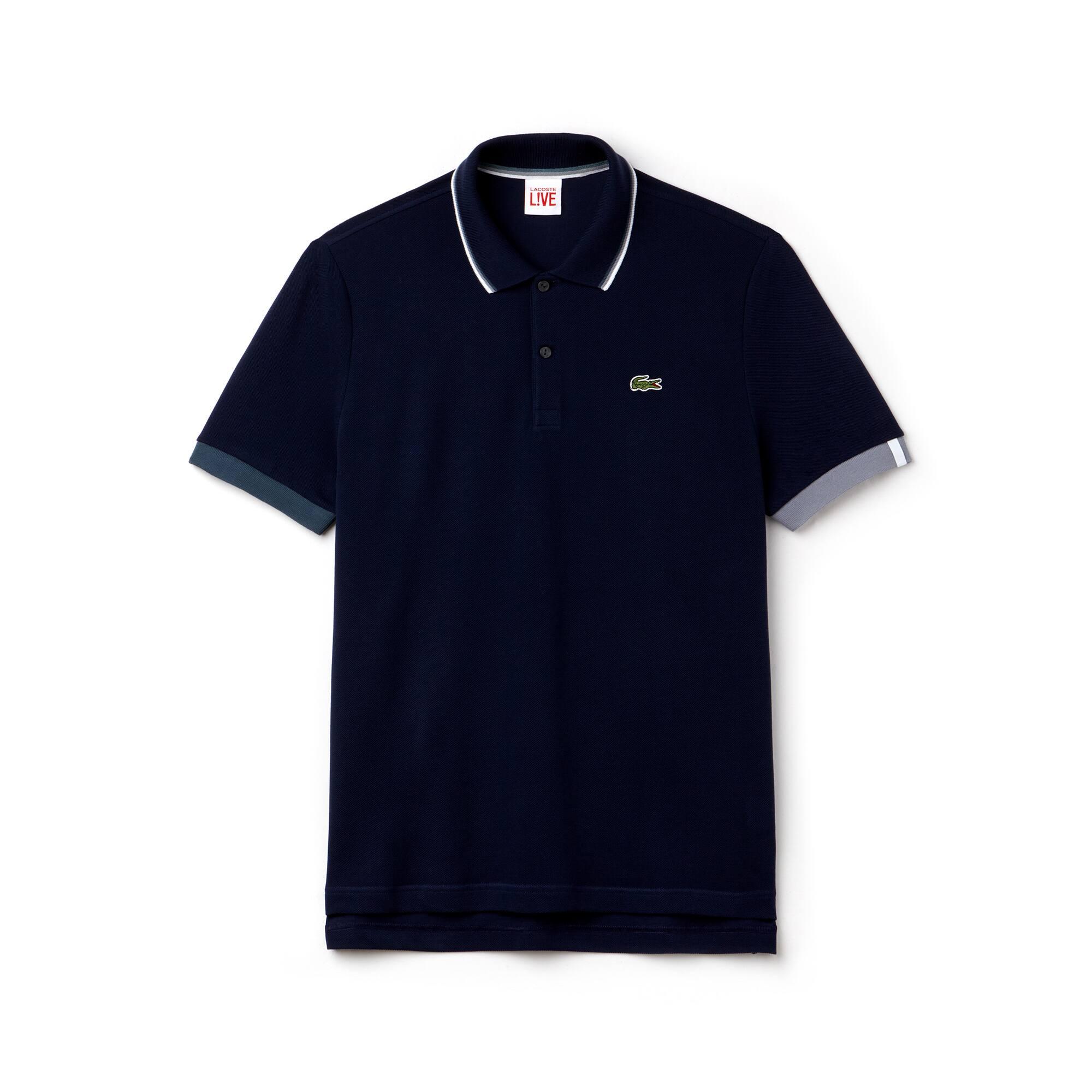 953984f69cb Camisa Polo Lacoste LIVE Slim Fit Masculina em Petit Piqué com Gola Debruada