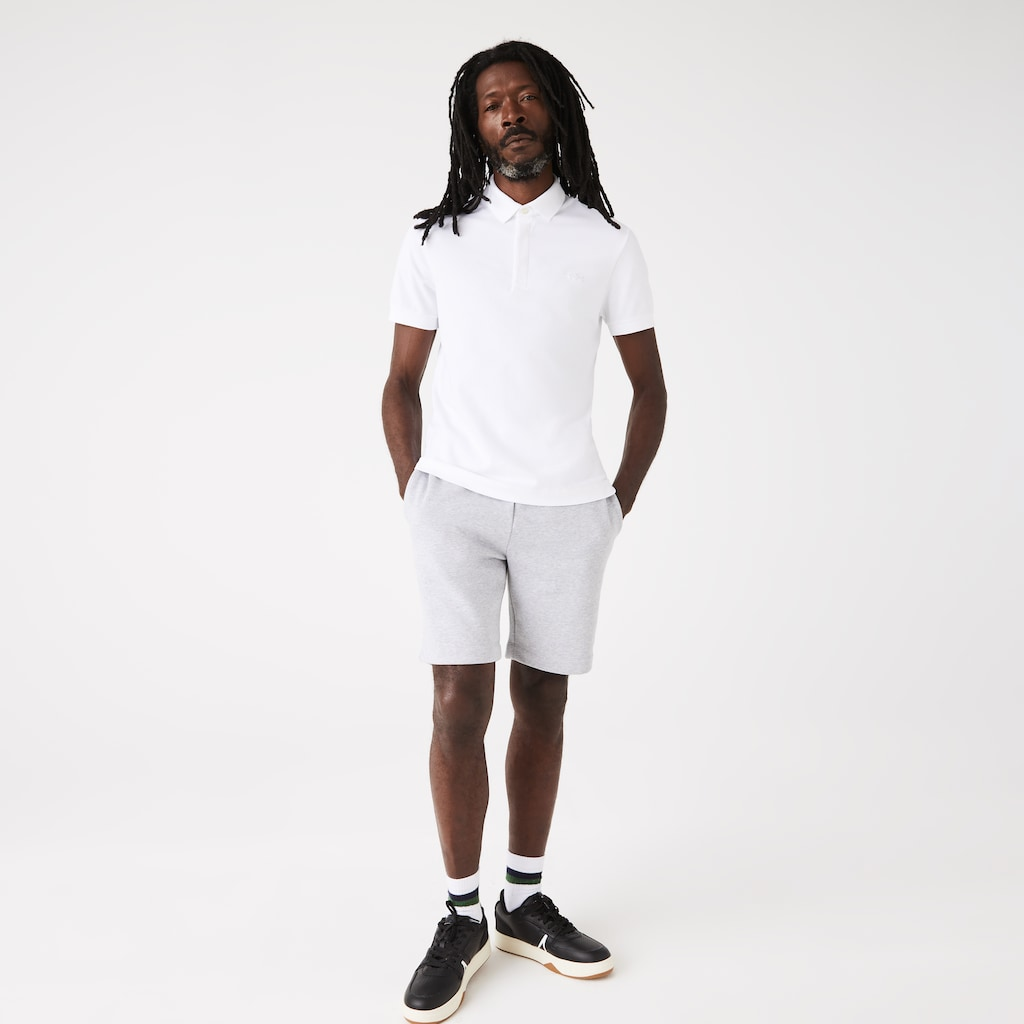 bae3059ec4 Camisa Polo Lacoste Paris Regular Fit Masculina em Piqué de Algodão Stretch