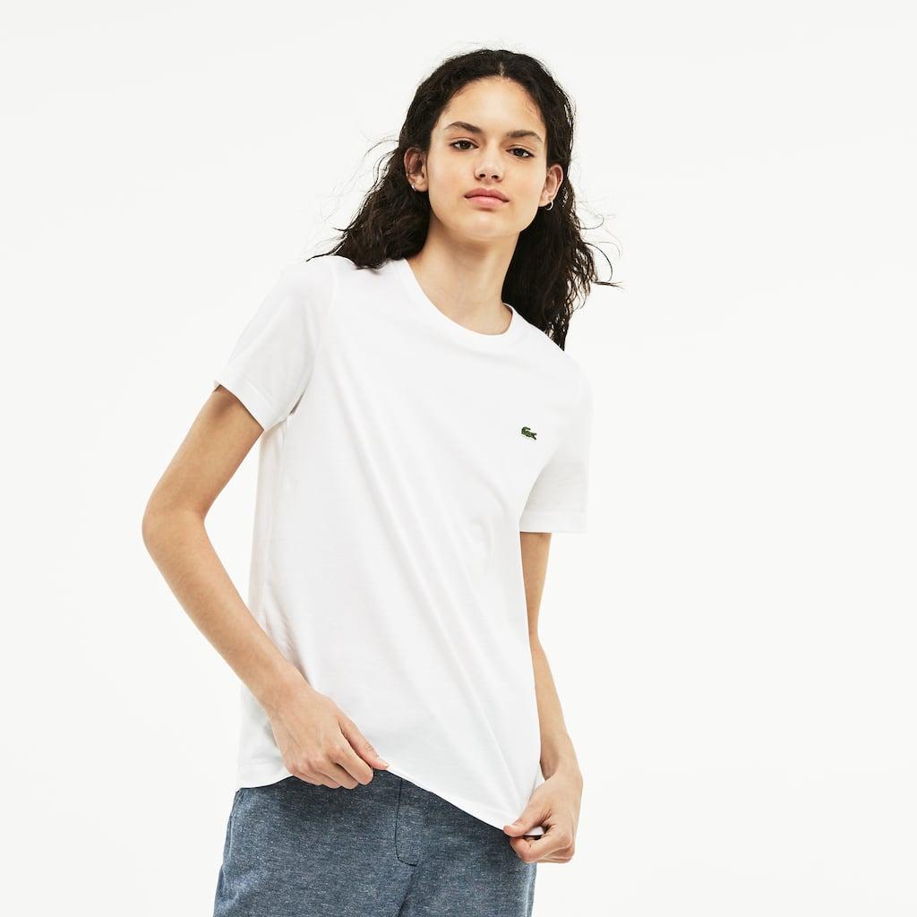 Camiseta Lacoste LIVE Unissex em Jérsei de Algodão com Gola Redonda ... 2550672375