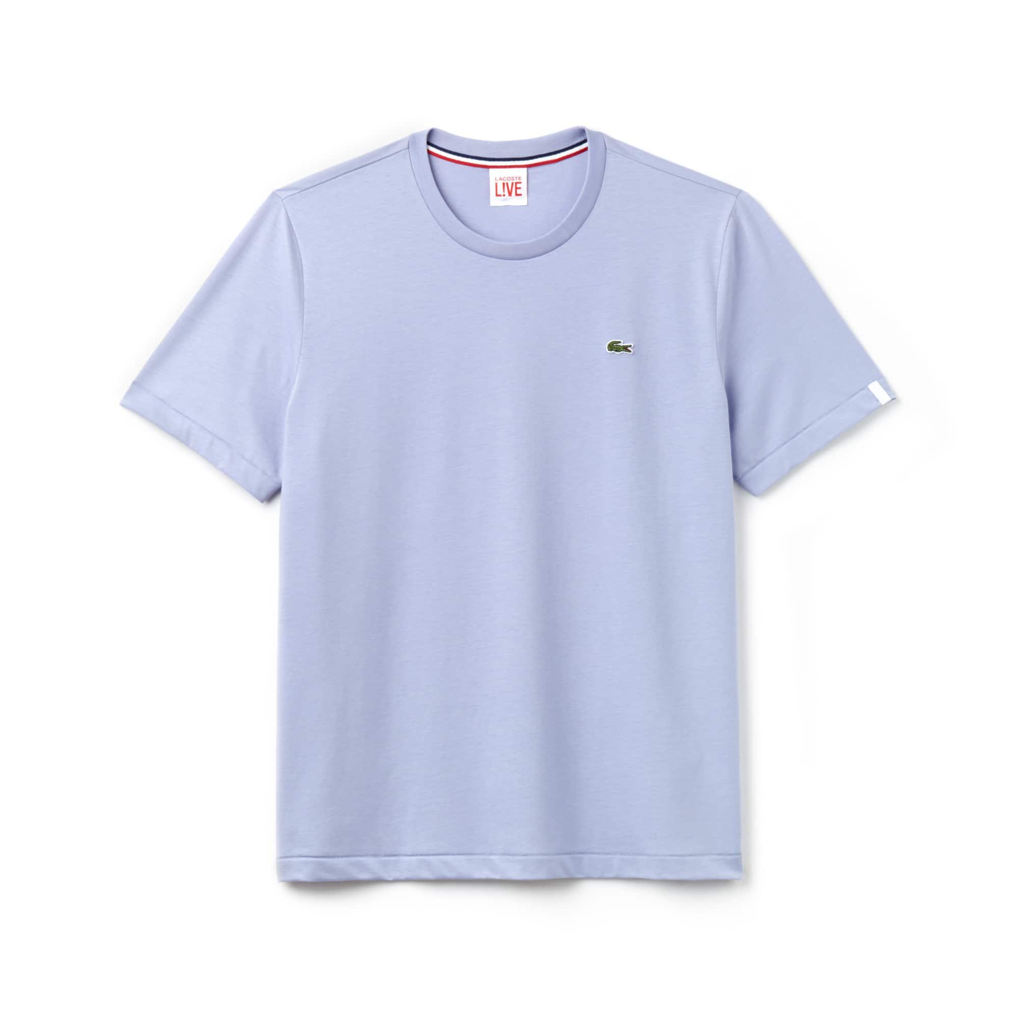 c2945ecff348a Camiseta Lacoste LIVE Unissex em Jérsei de Algodão com Gola Redonda