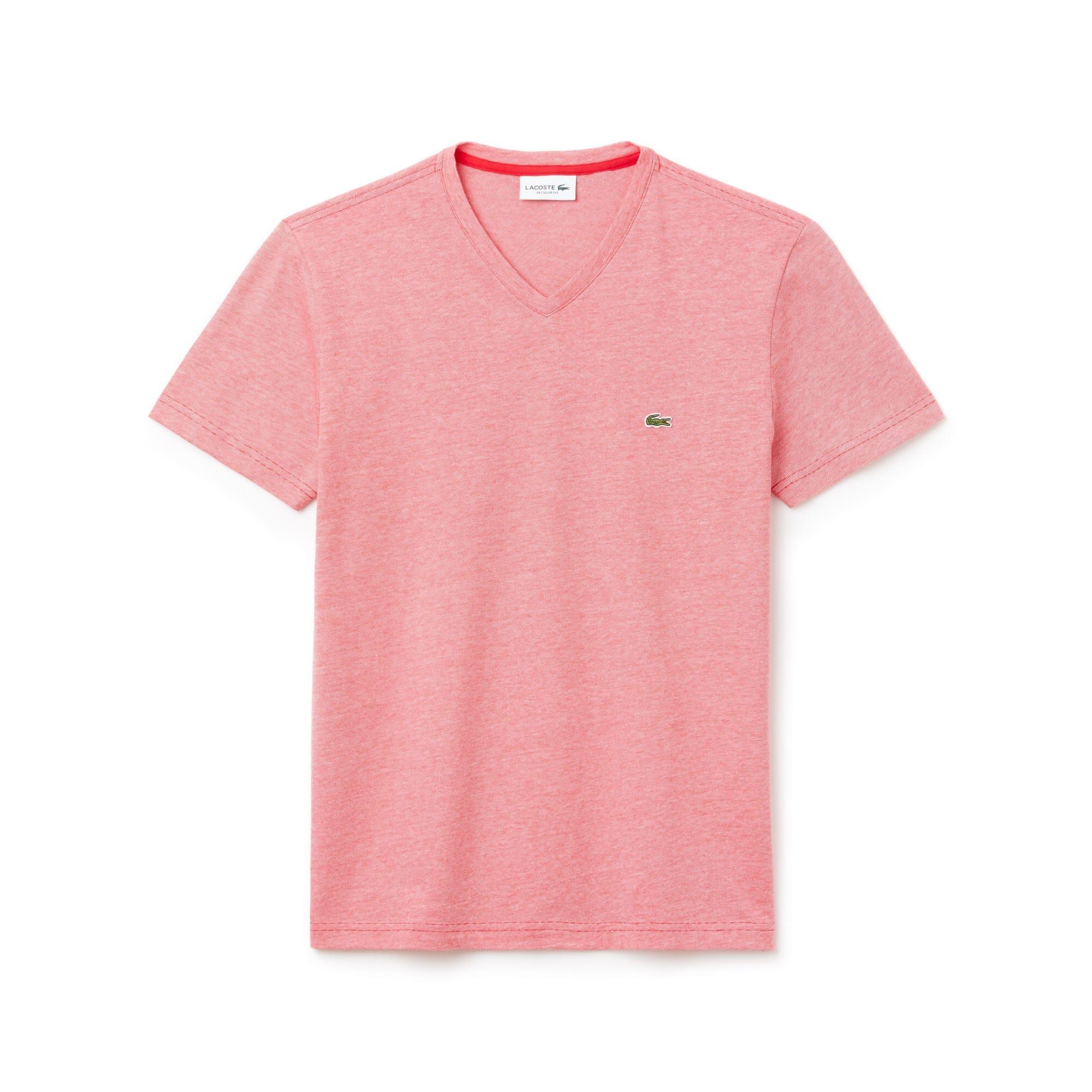 3a3335ea31 Camiseta masculina decote V em jérsei de algodão