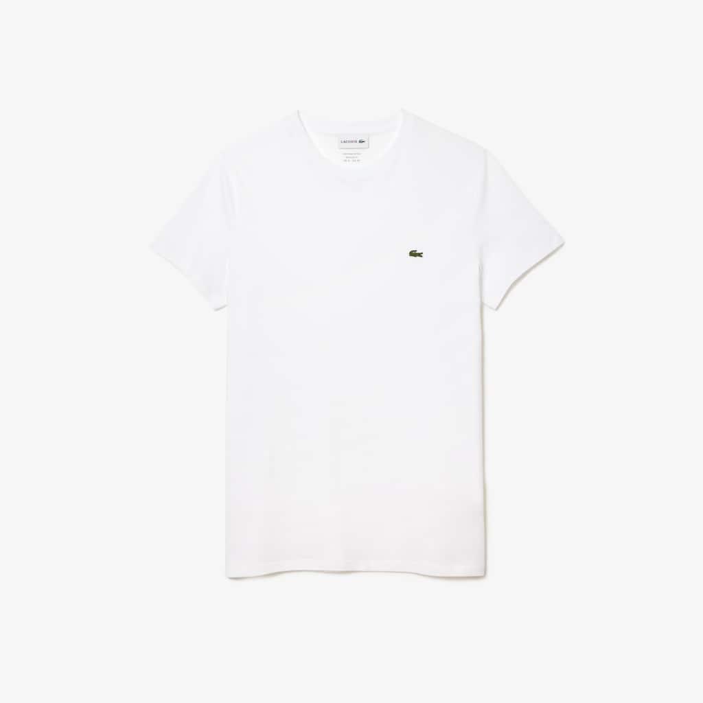 a7334a3d8e3bf Camiseta Masculina em Jérsei de Algodão Pima com Gola Redonda   LACOSTE