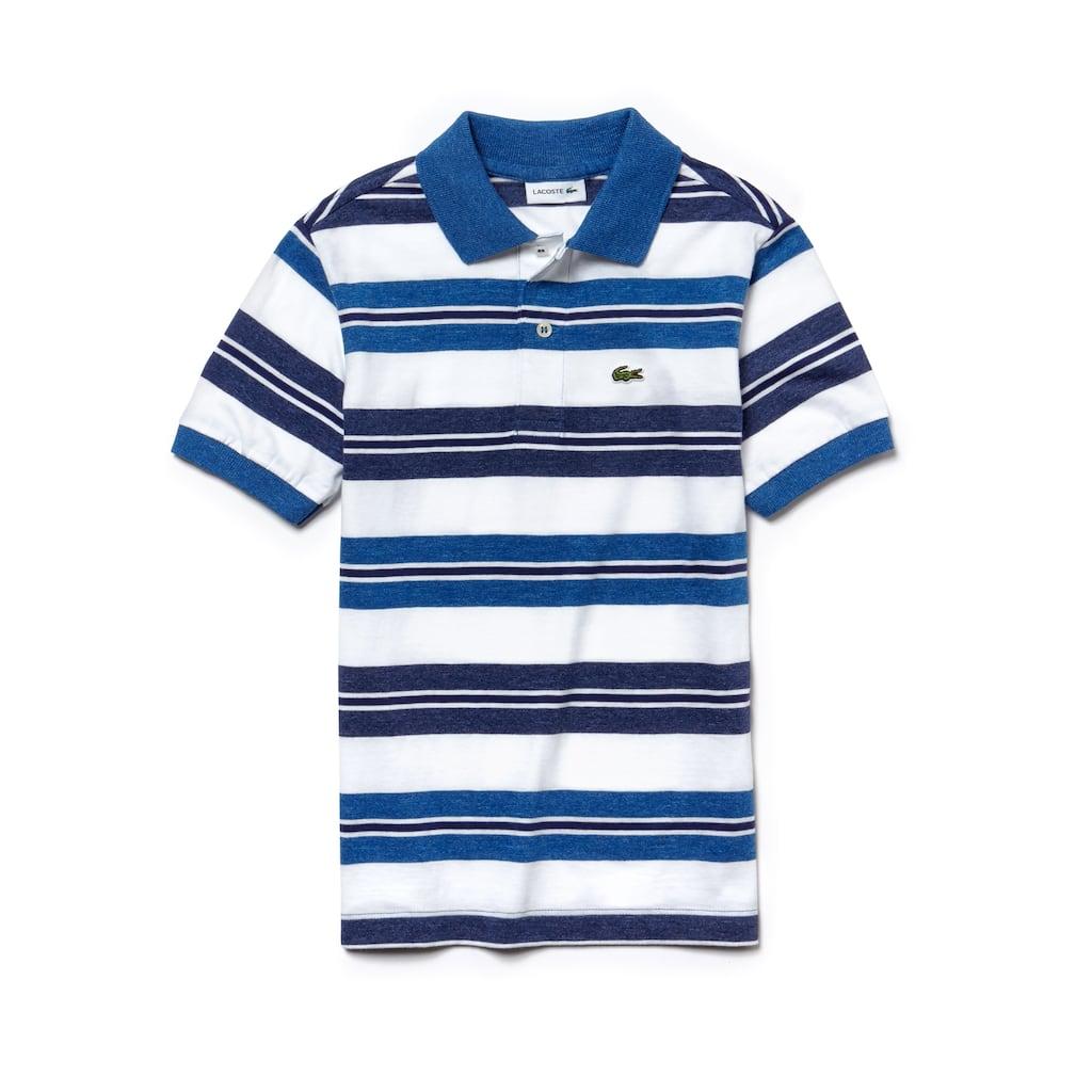 Camisa Polo Lacoste Infantil Masculina em Jérsei de Algodão Listrado ... 9add028356