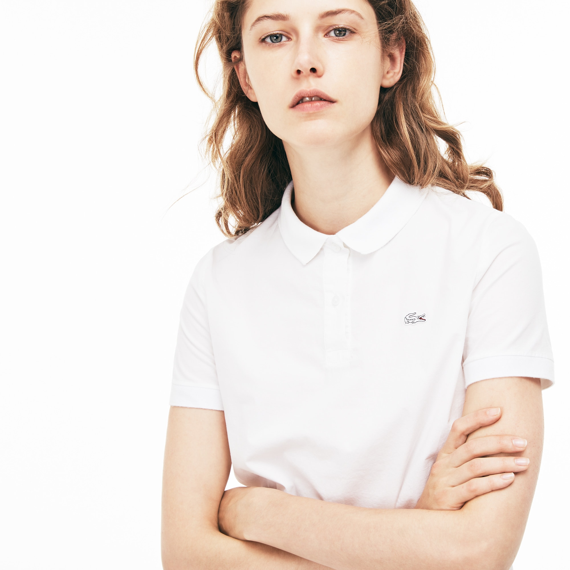 Camisa Lacoste Regular Fit Feminina em Popeline Stretch
