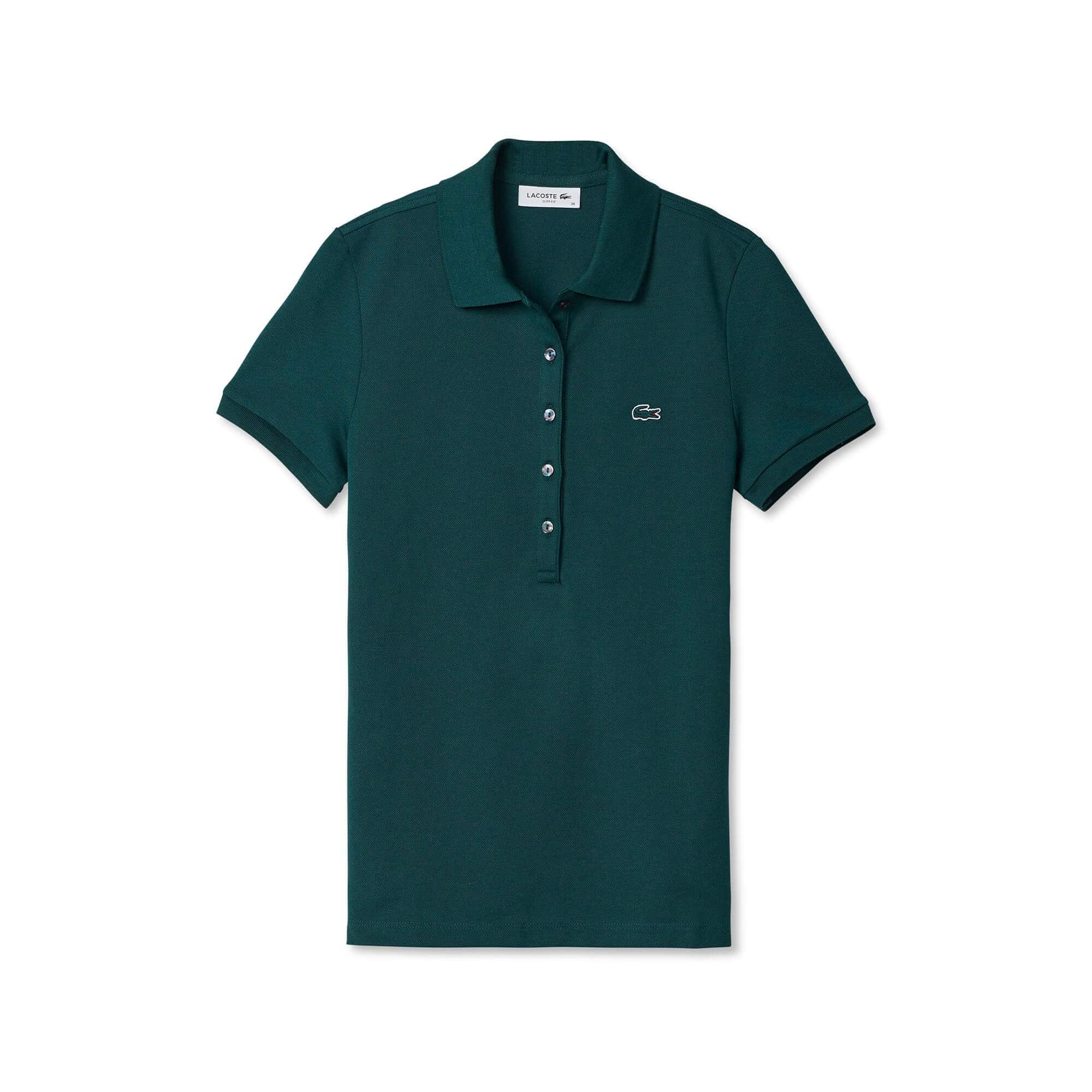 Camisa polo Lacoste feminina em minipiquet stretch ab814330f9a34