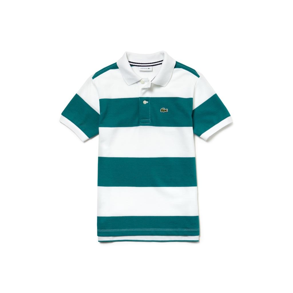980d83d7a24e9 Camisa Polo Lacoste Masculina Infantil Listrada em Petit Piqué de Algodão