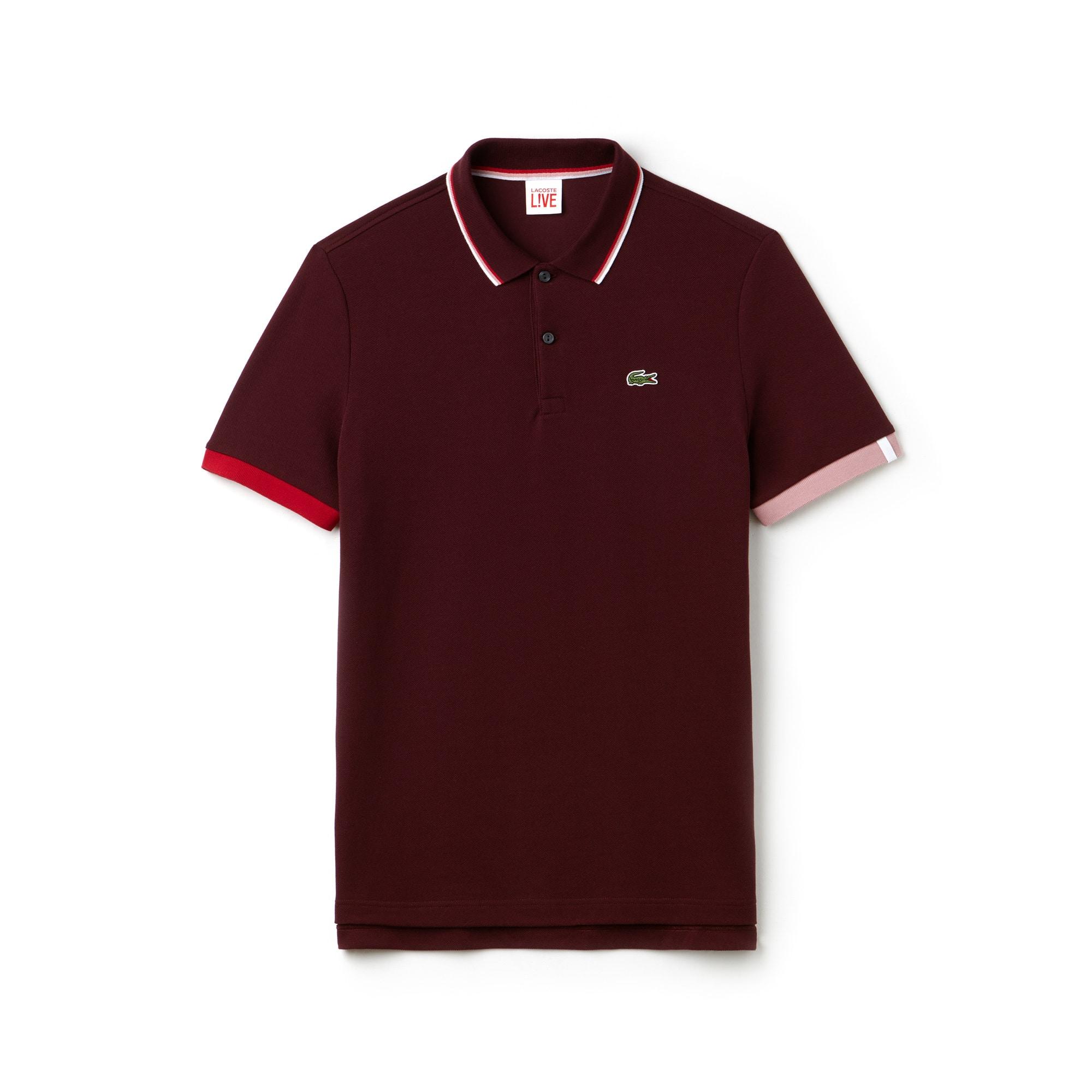 Camisa Polo Lacoste LIVE Slim Fit Masculina em Petit Piqué com Gola Debruada d1153053fb