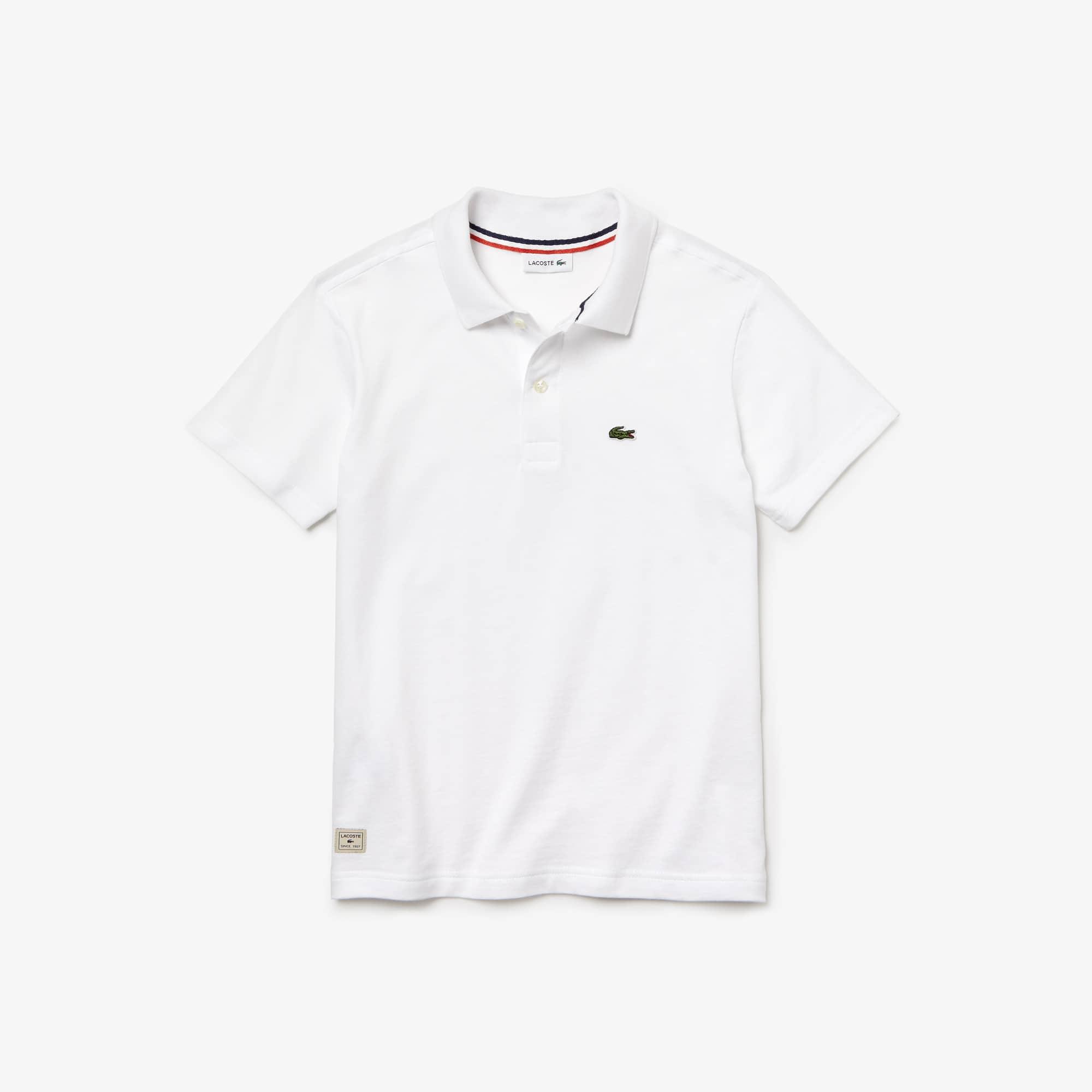 7a4070b5018 Camisa Polo Lacoste Infantil Masculina em Jérsei de Algodão