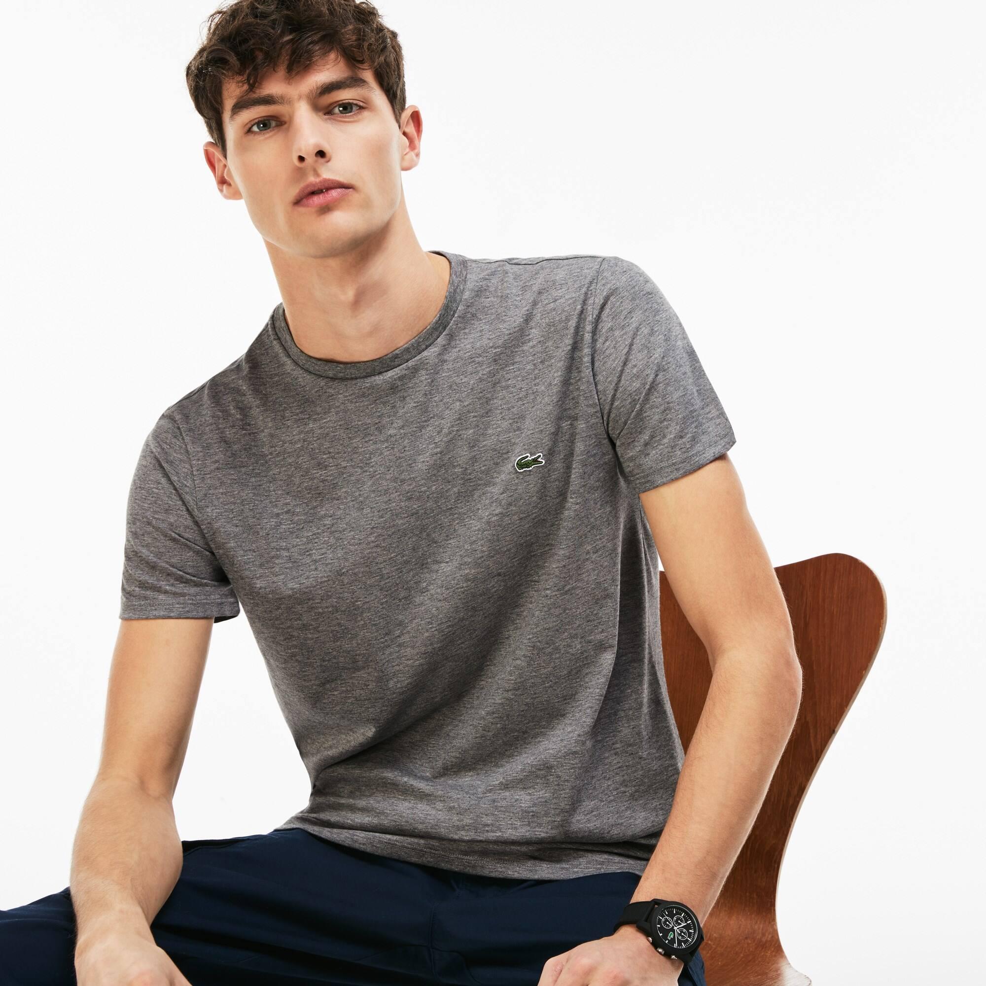 Camiseta Masculina em Jérsei de Algodão Pima com Gola Redonda 12b2c06ba1