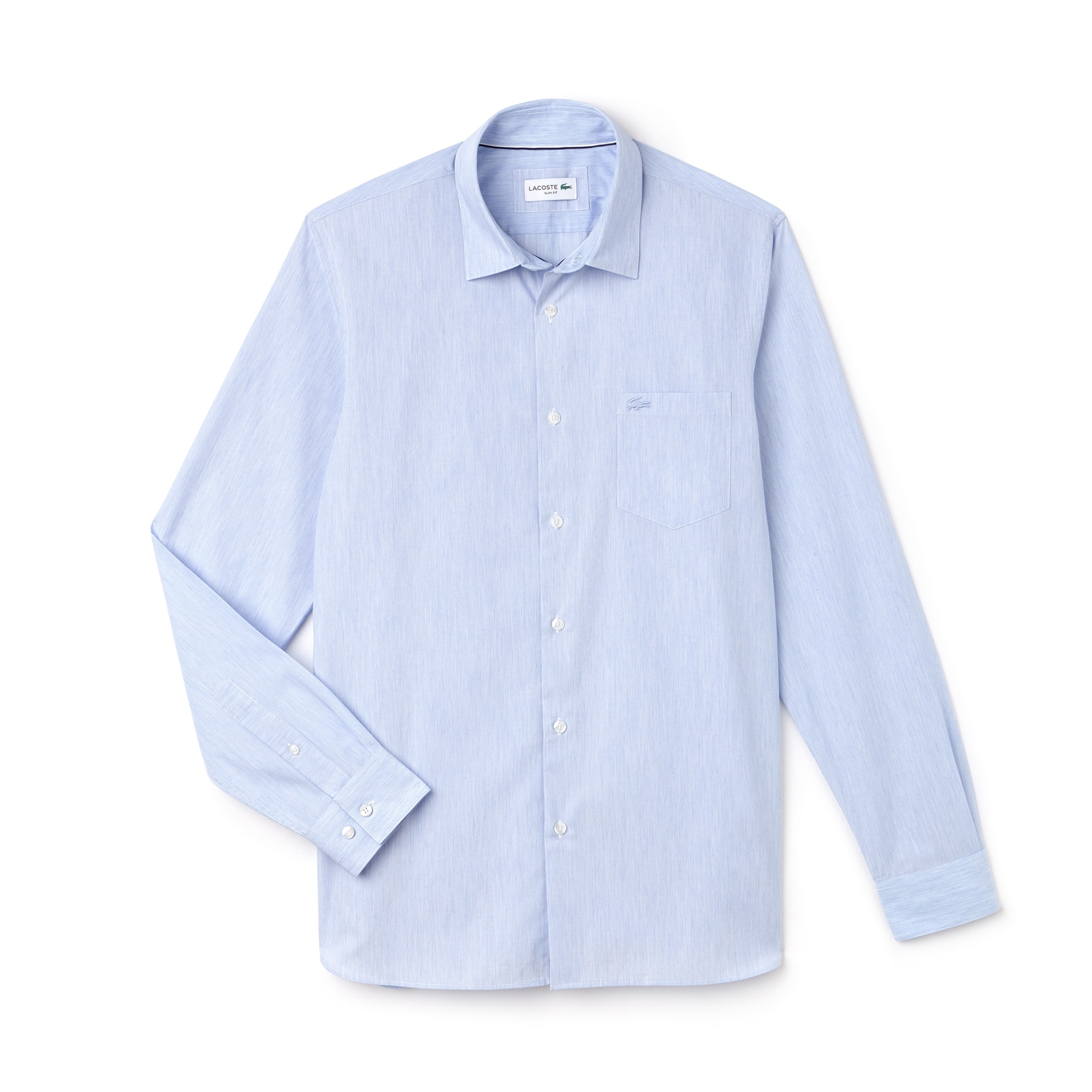 Camisa Slim Fit Masculina em Popeline de Algodão 0dc38e41cb