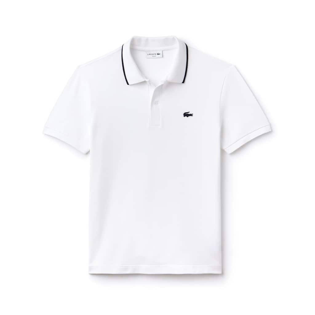 c8da0acc555bf Camisa Polo Lacoste Slim Fit Masculina em Algodão Pima Stretch com Gola  Debruada