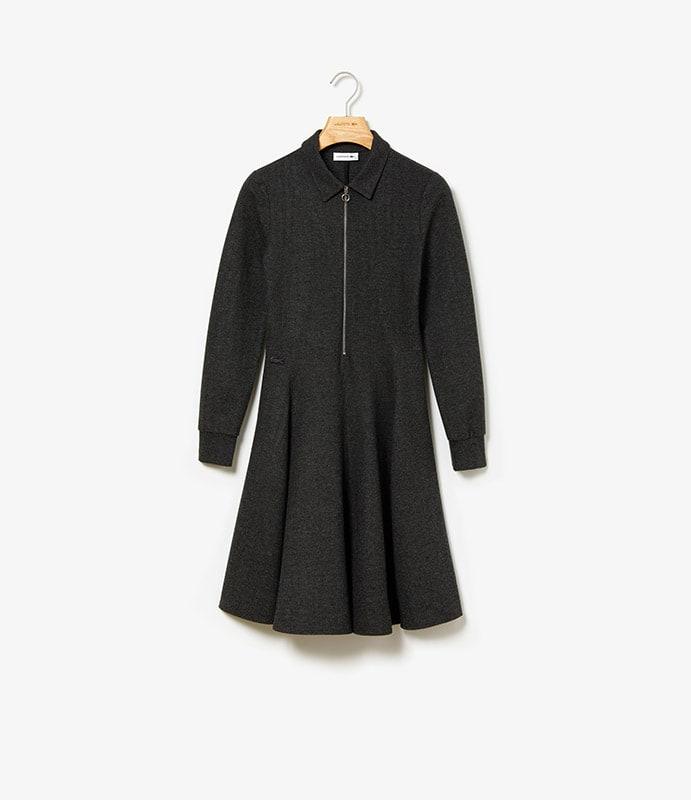 Polo-Kleid mit Reißverschlussausschnitt