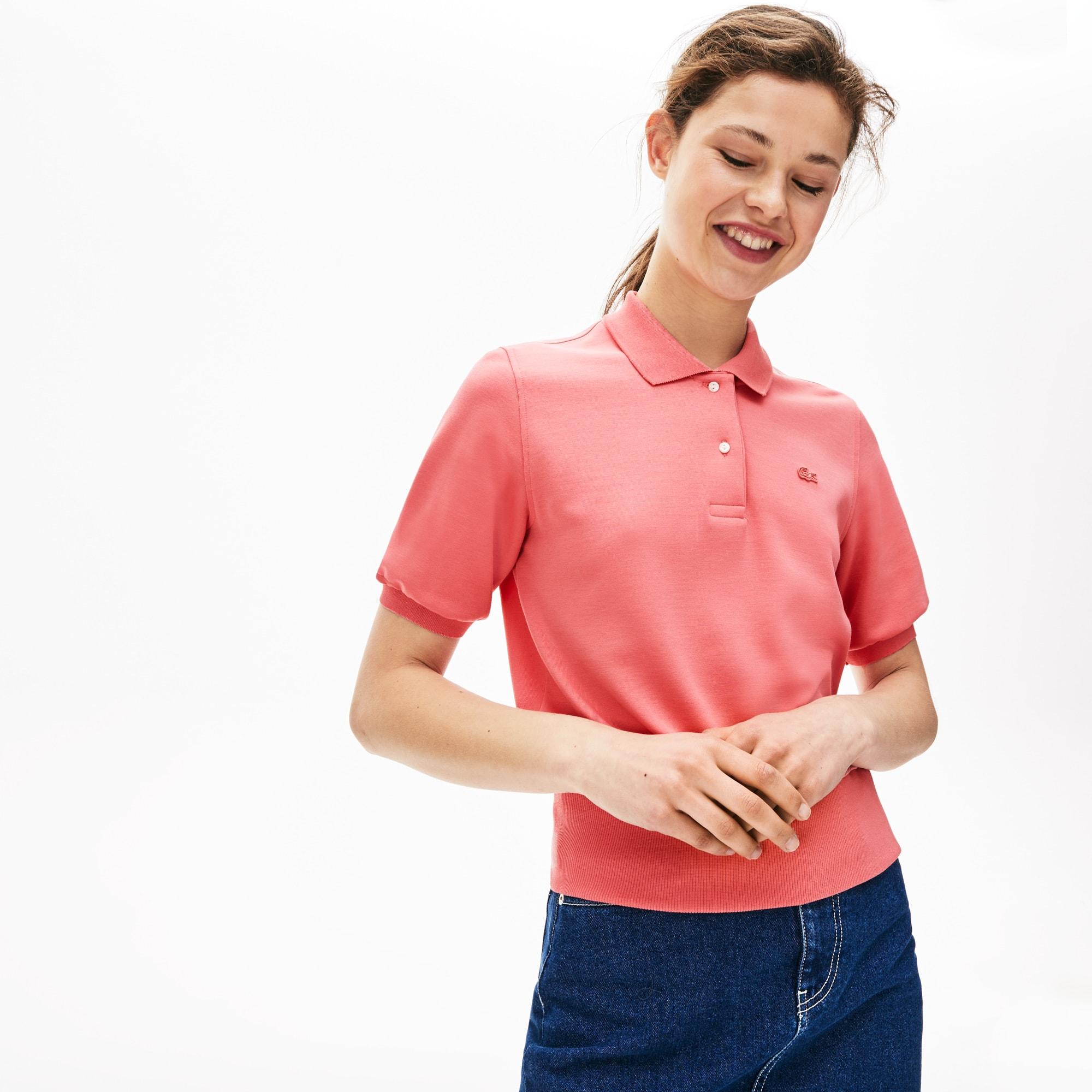 buy popular 04b58 56205 Damen LACOSTE L!VE zweilagige Boxy Fit Jersey-Poloshirt