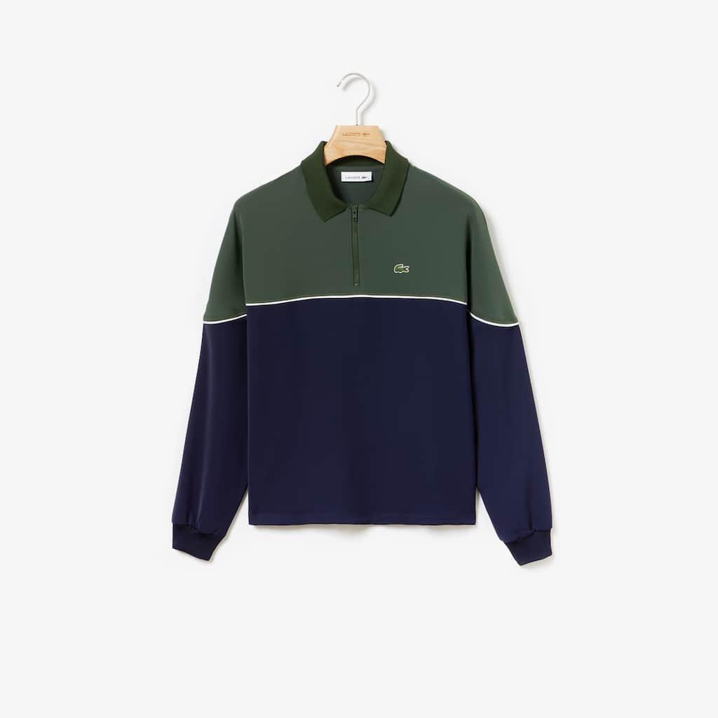 buy online f6f52 5f555 LACOSTE Damen-Poloshirt mit Colorblocks und Reißverschlusskragen