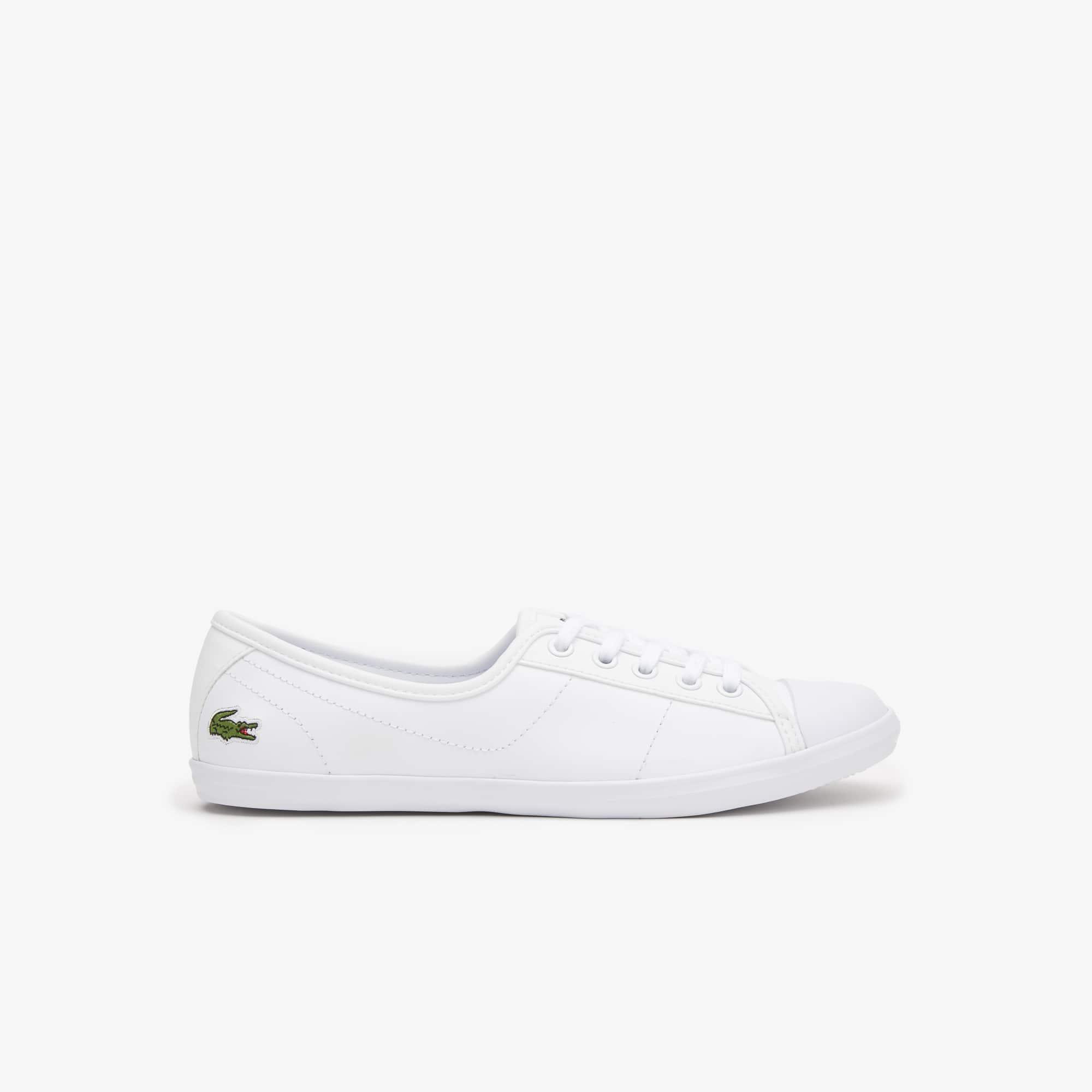 Lacoste Damen-Sneaker Ziane B L1 aus LEDER in Weiß