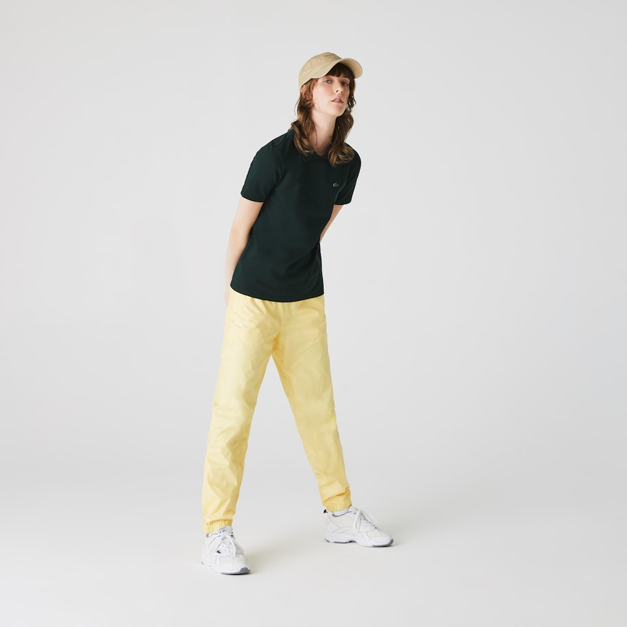 Slim Fit Damen-Poloshirt aus Stretch-Piqué LACOSTE L!VE