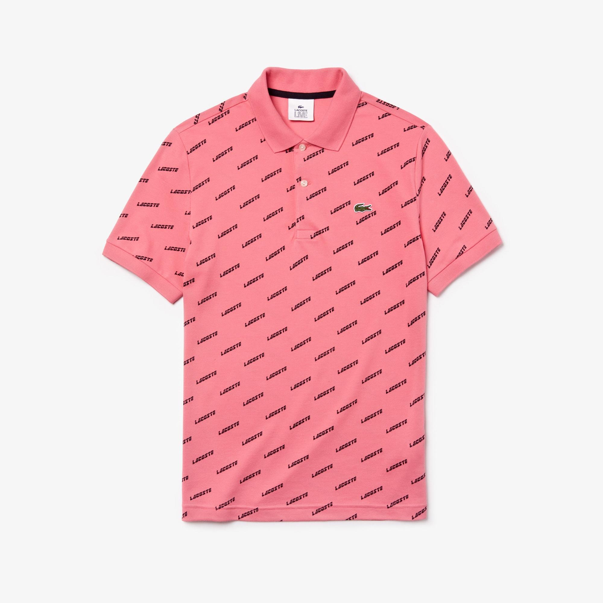 quality design 465c8 34950 Herren Mini Piqué Poloshirt mit Aufdruck LACOSTE L!VE