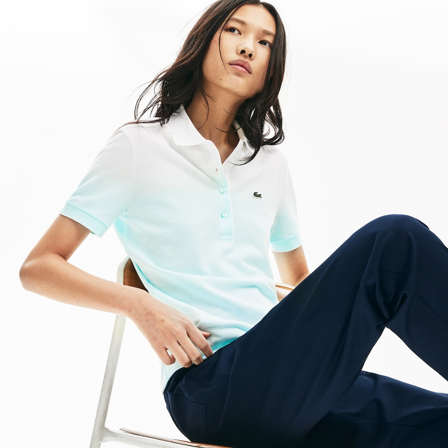 Damen LACOSTE MADE IN FRANCE Poloshirt aus Bio-Baumwoll-Piqué