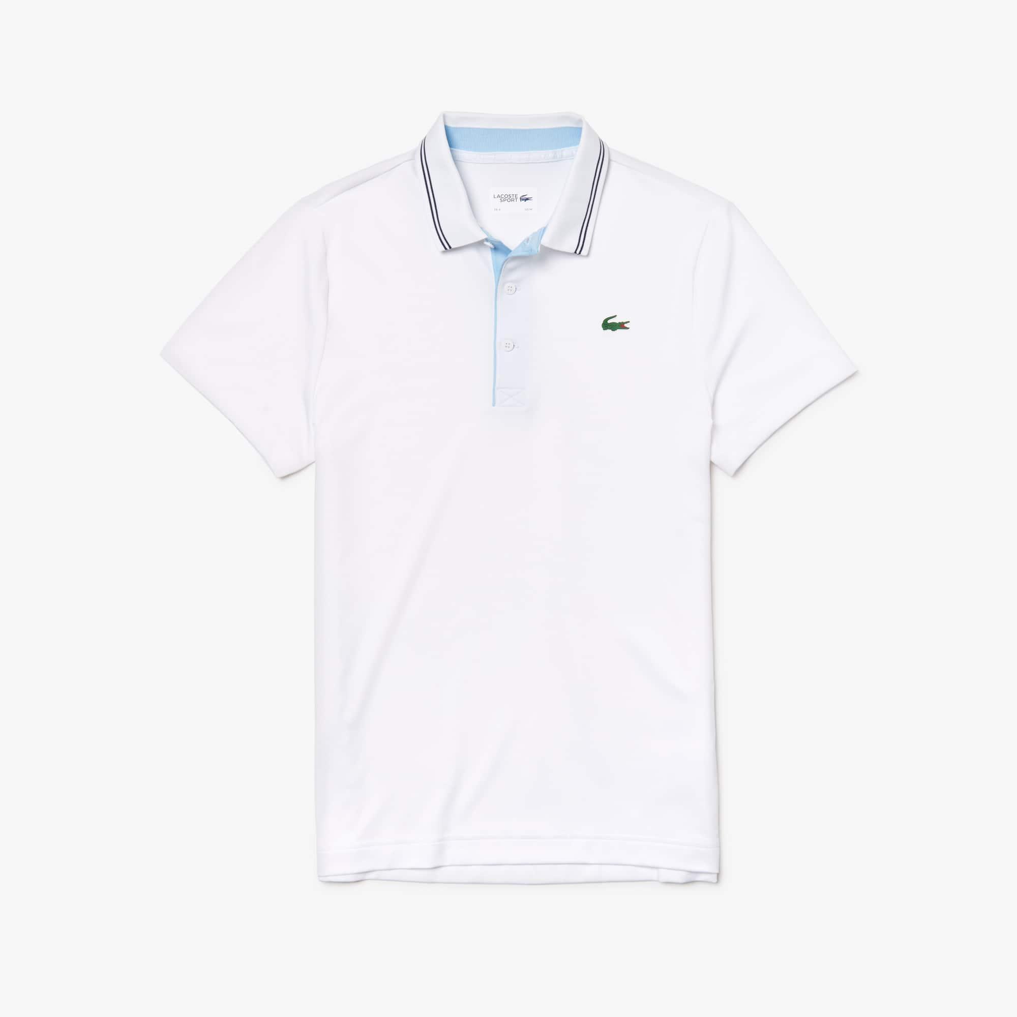 buy online e54a7 60066 Herren LACOSTE SPORT Stretch Golf-Poloshirt mit Schriftzug