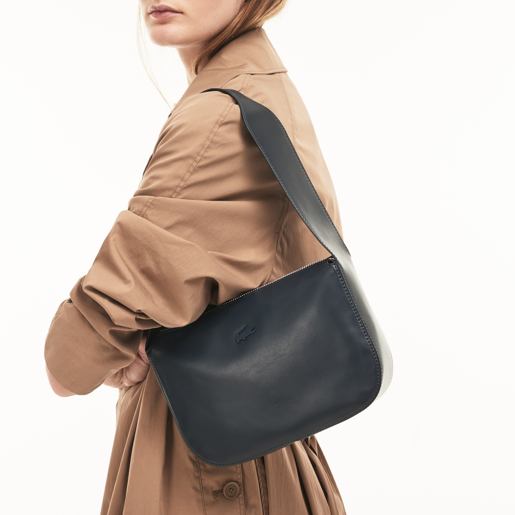 Einfarbige Damen Mini Hobo-Bag Purity Soft aus Leder