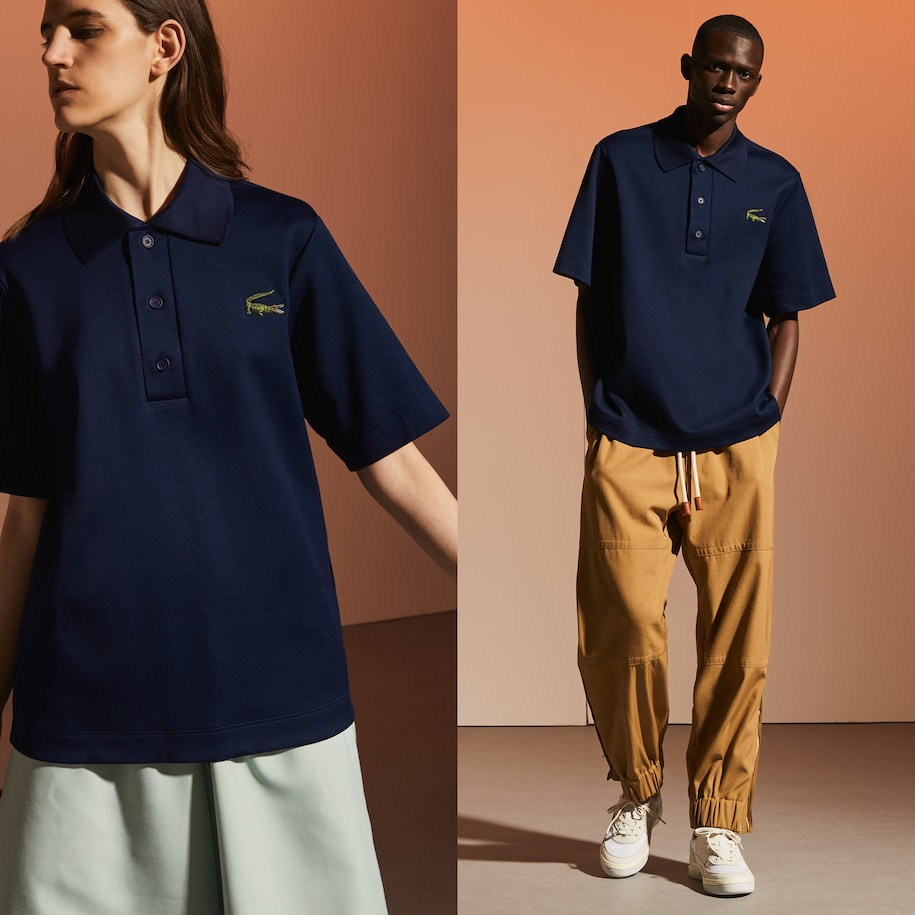 Unisex Lacoste Fashion Show Edition Oversize Cotton Polo